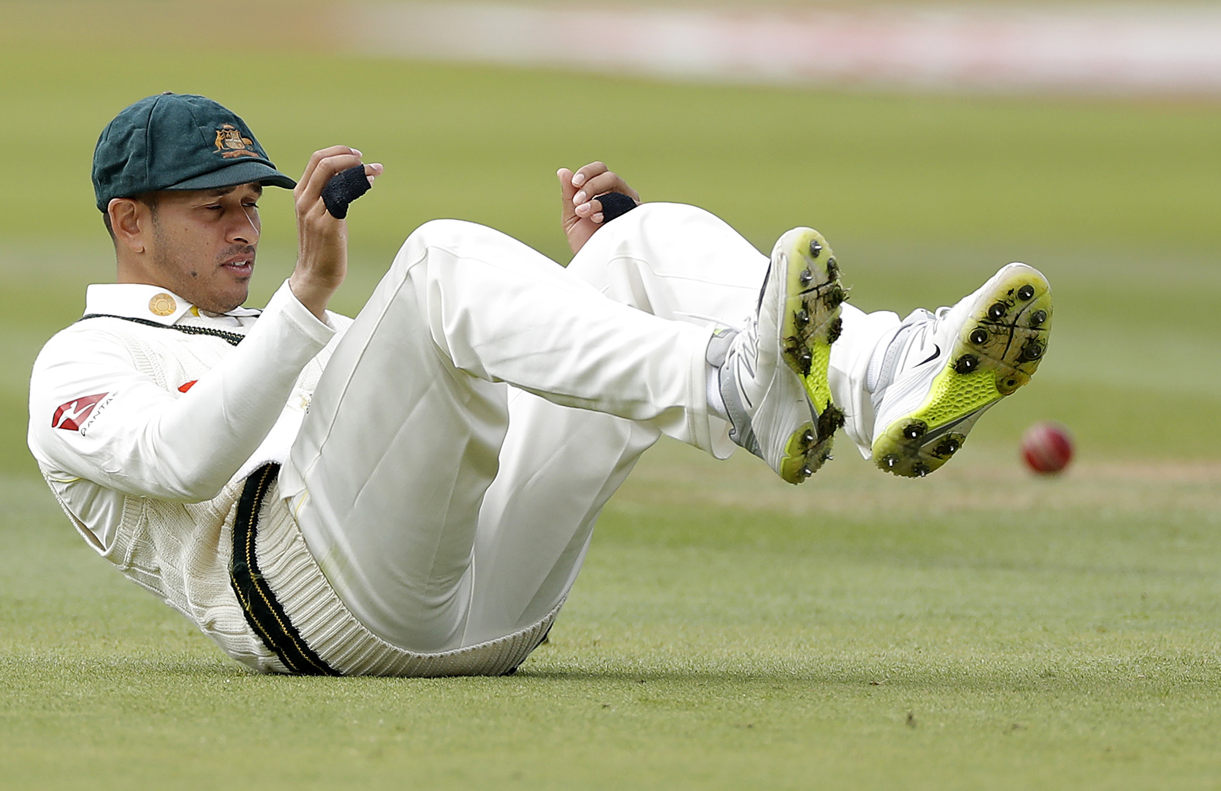 Khawaja put down Burns in the opening session // Getty