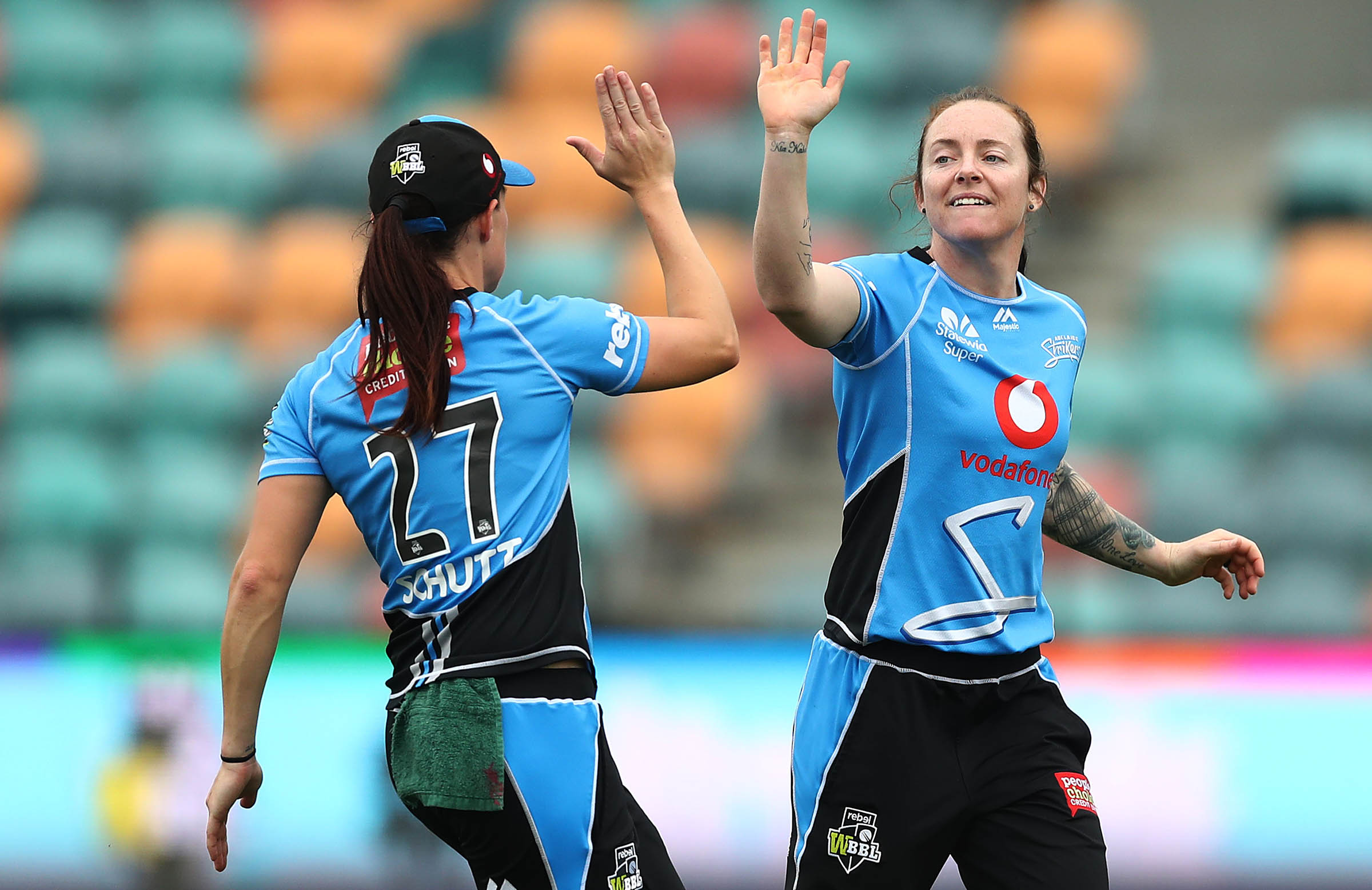 Cady will again play alongside Schutt at the Strikers in WBBL|05 // Getty