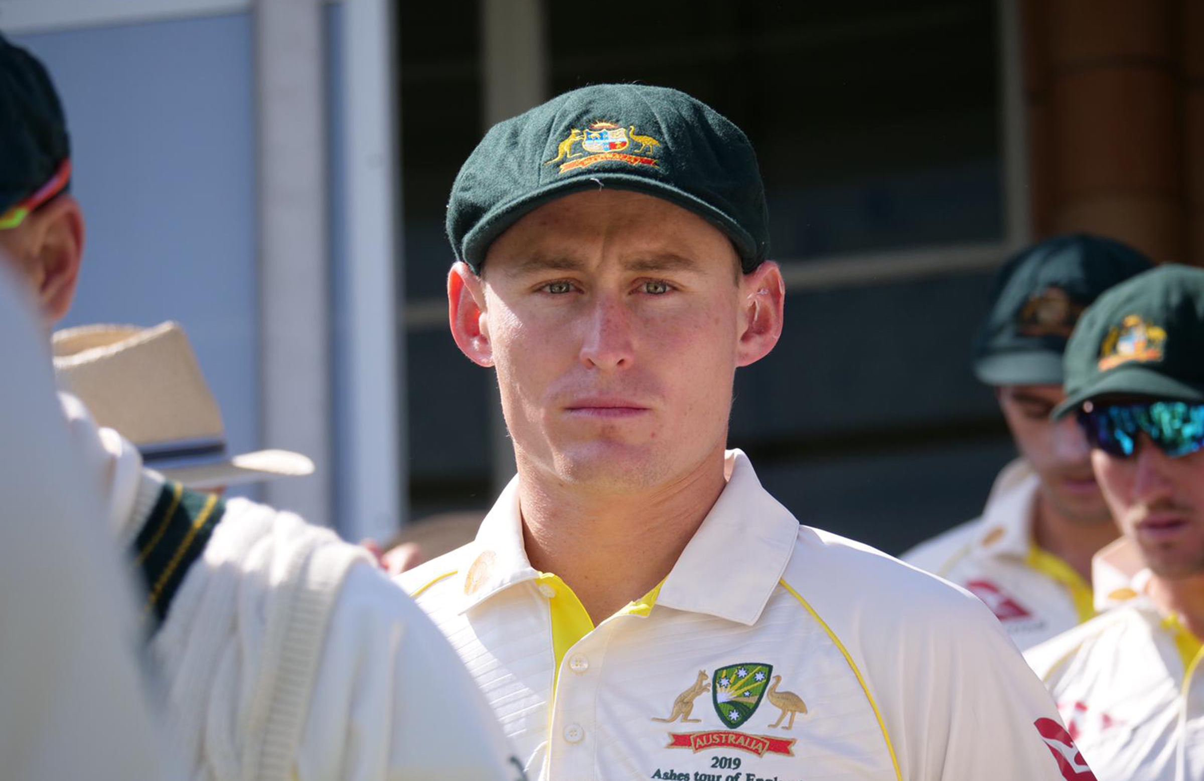 Labuschagne has been subbed in for Smith // Getty