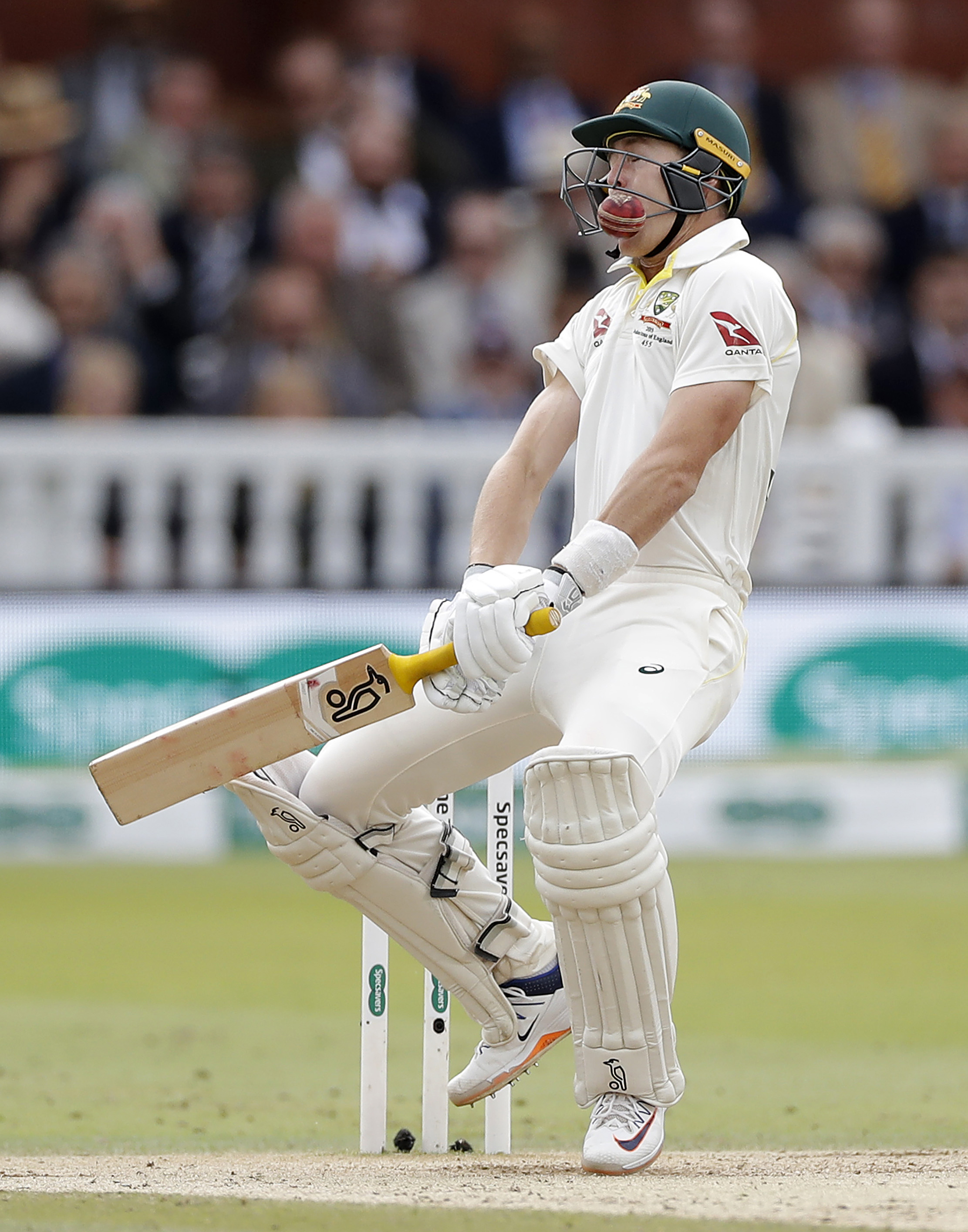 Labuschagne is struck at Lord's // Getty