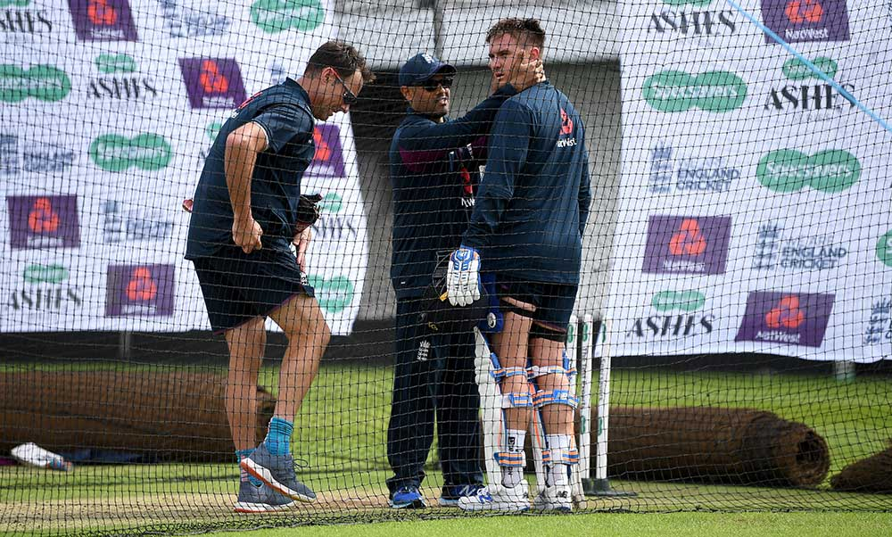 Jason Roy gets checked over by the doctor // Getty
