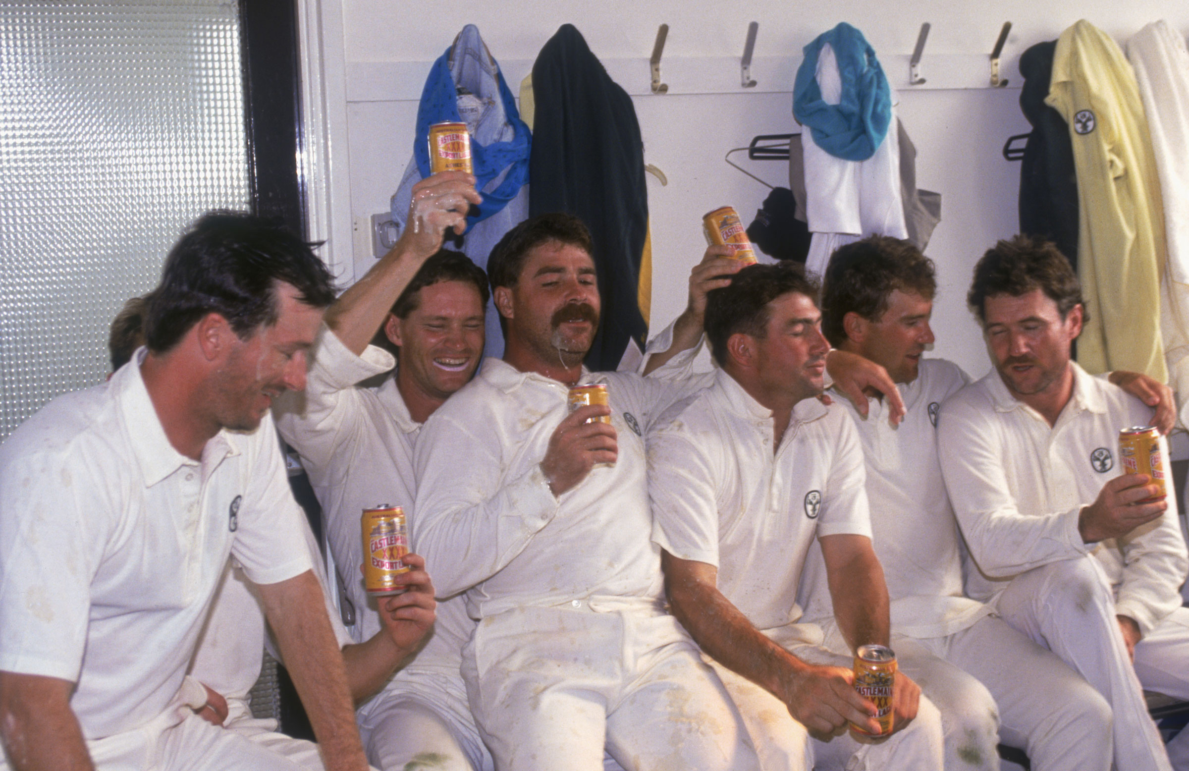 Australia players celebrate their victory at Headingley in 1989 // Getty Images