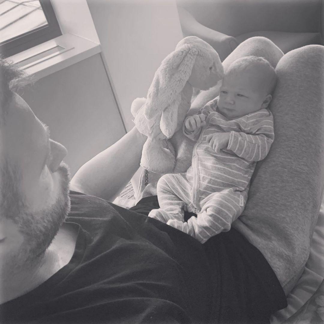 Matthew Wade with his newborn daughter Goldie // Instagram