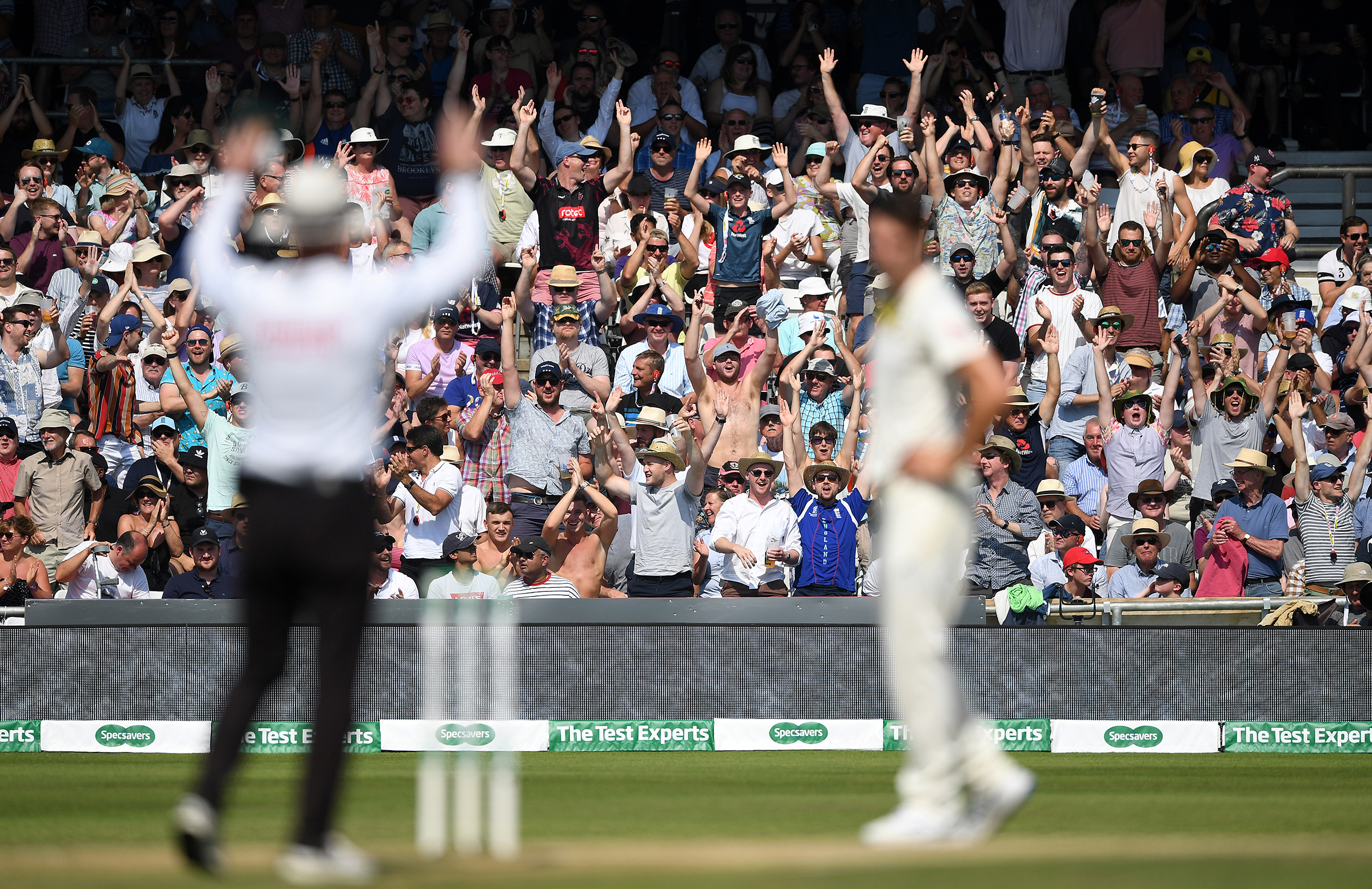 The Headingley crowd finds full voice during Stokes' knock // Getty