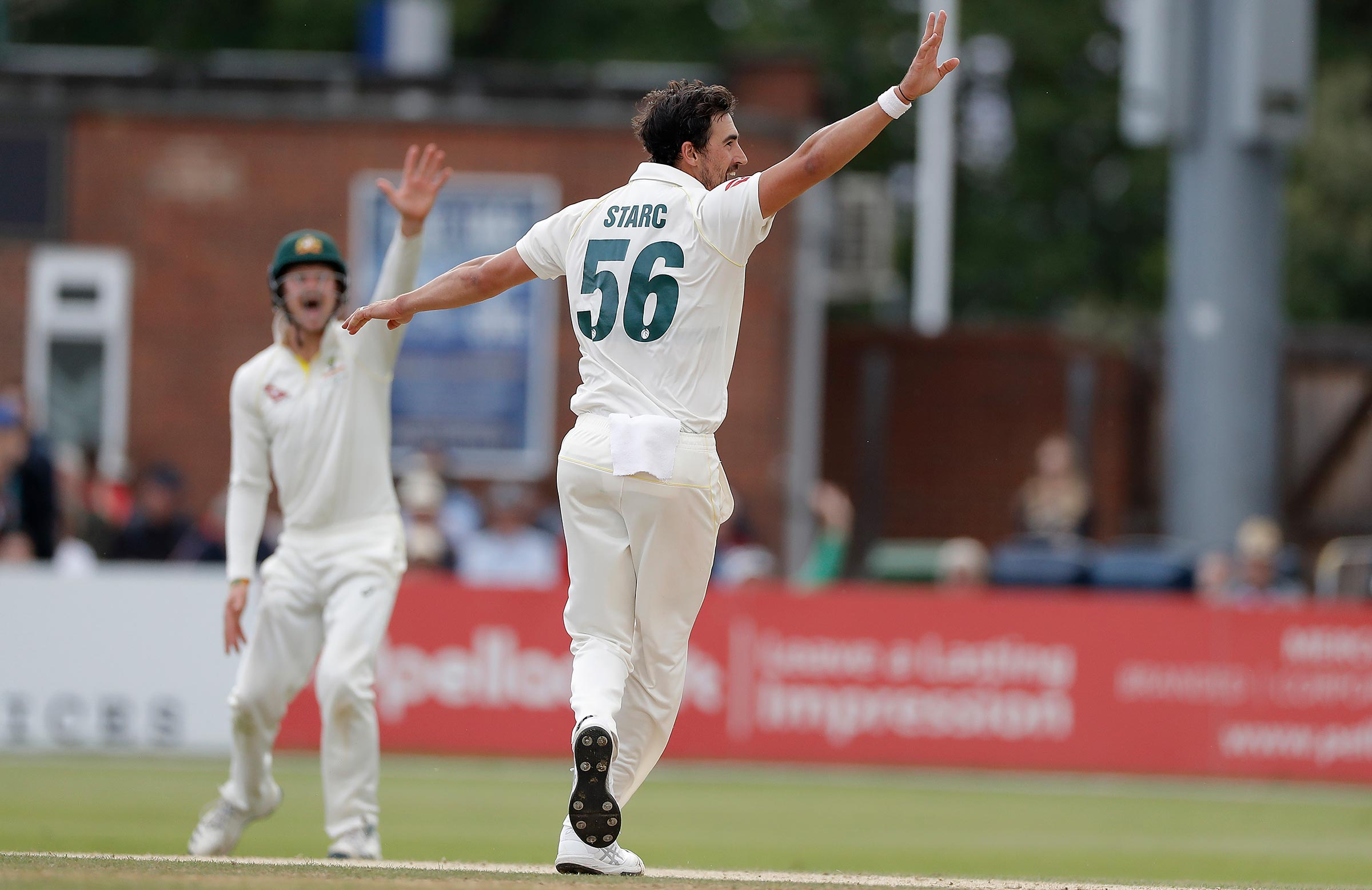 Starc claimed three wickets in an over // Getty