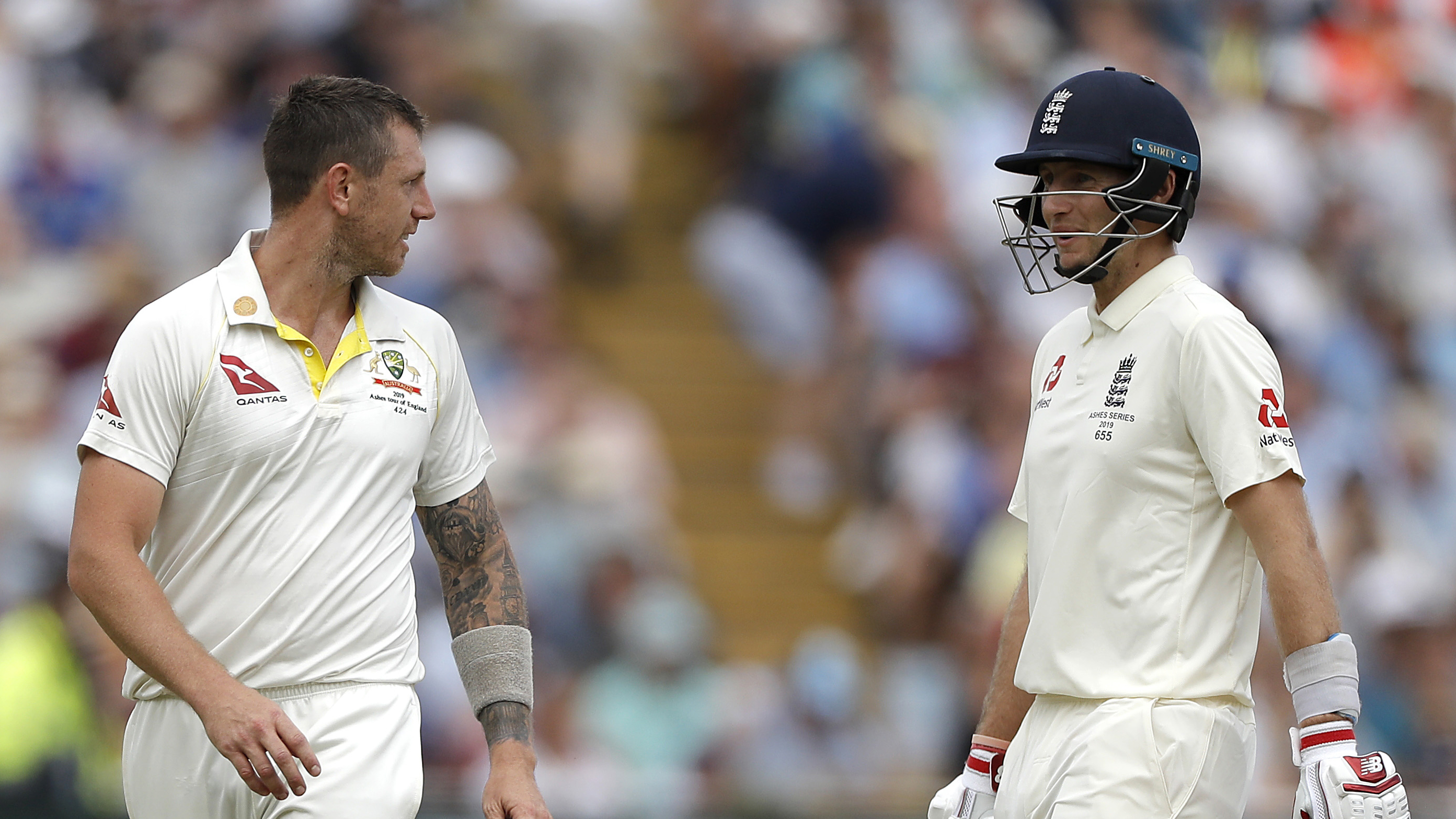 Pattinson and Root had an intriguing battle on day two // Getty