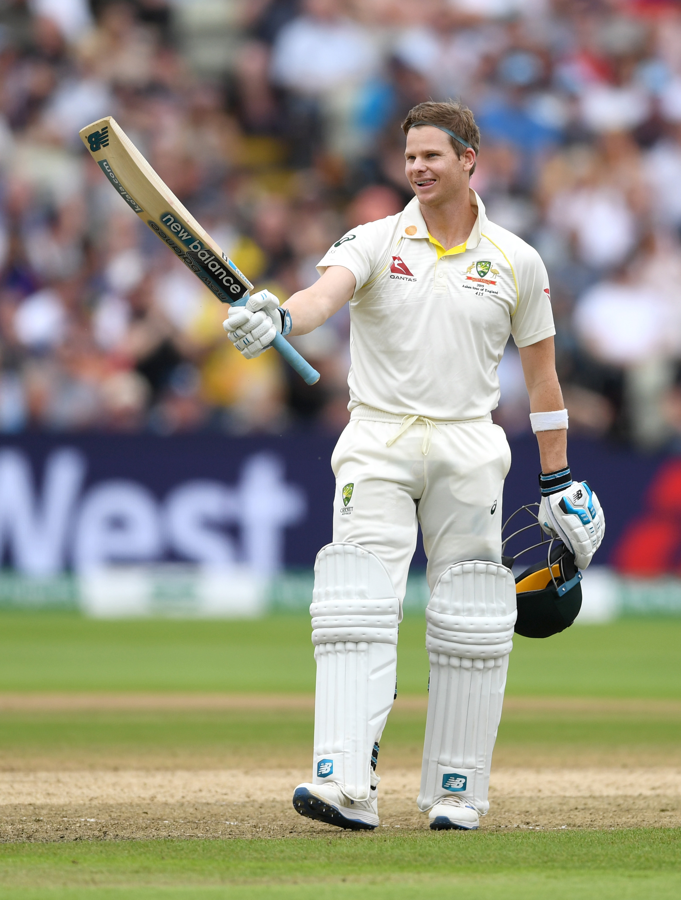 Smith brought up his 25th Test century in the second innings // Getty