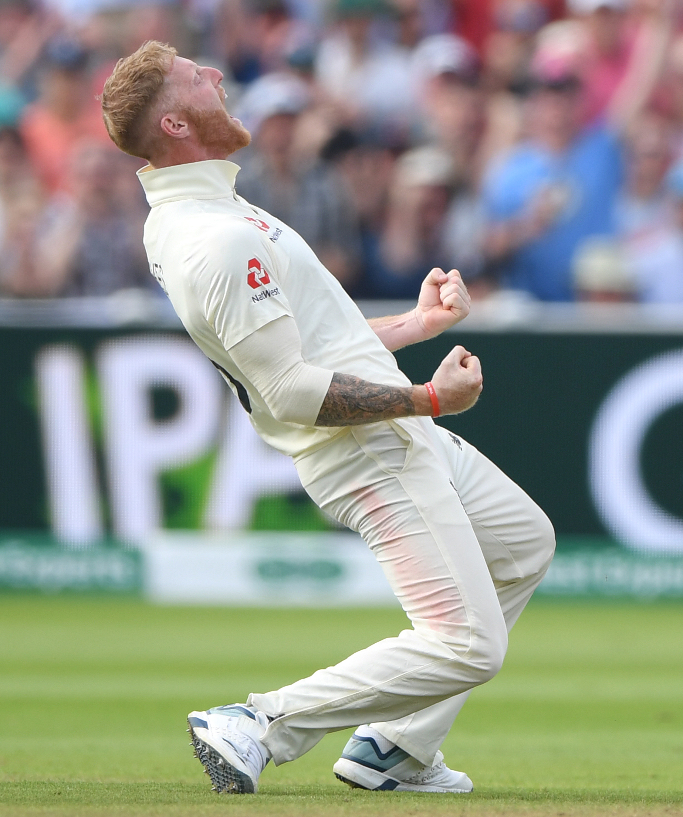 Stokes was PUMPED with the wicket of Khawaja // Getty