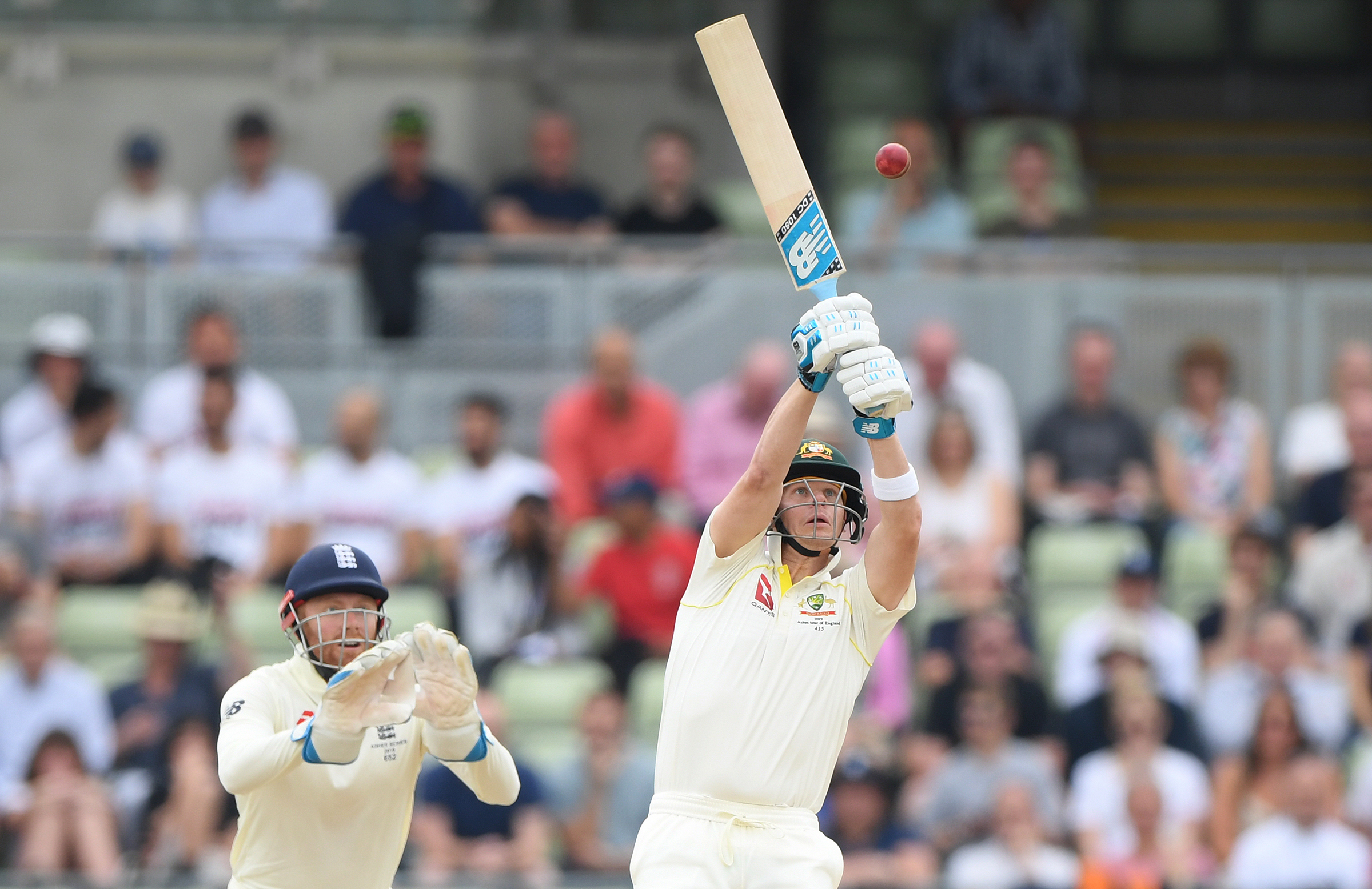 Smith tried to reach a wild Moeen Ali beamer // Getty