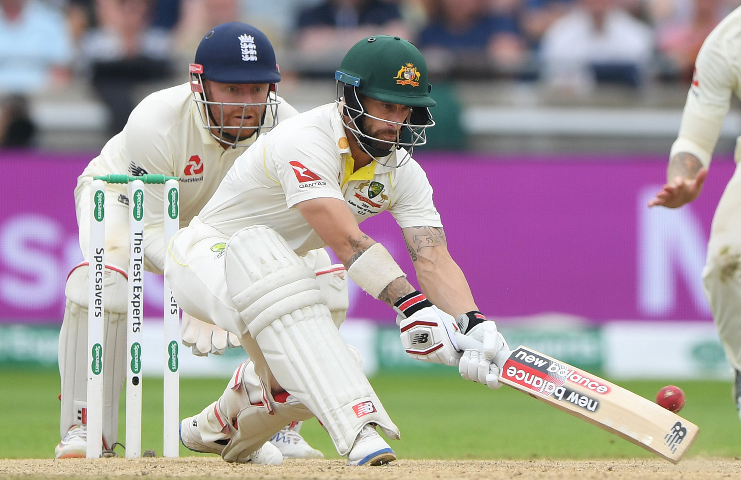 Wade brought up his century with a reverse sweep // Getty
