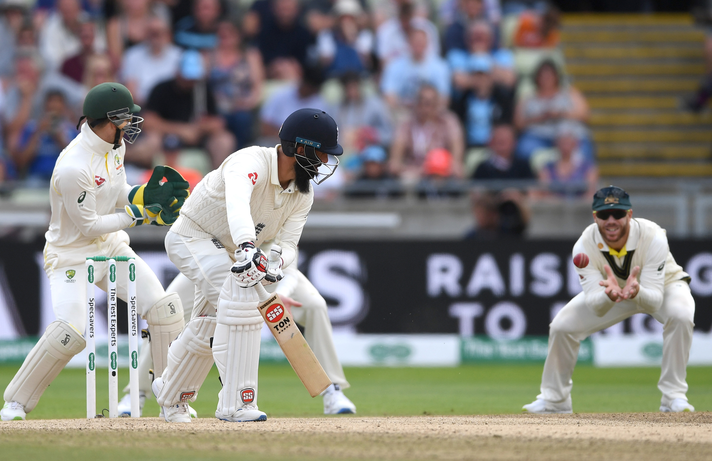 Moeen was dismissed by Lyon for a ninth time in 11 innings // Getty