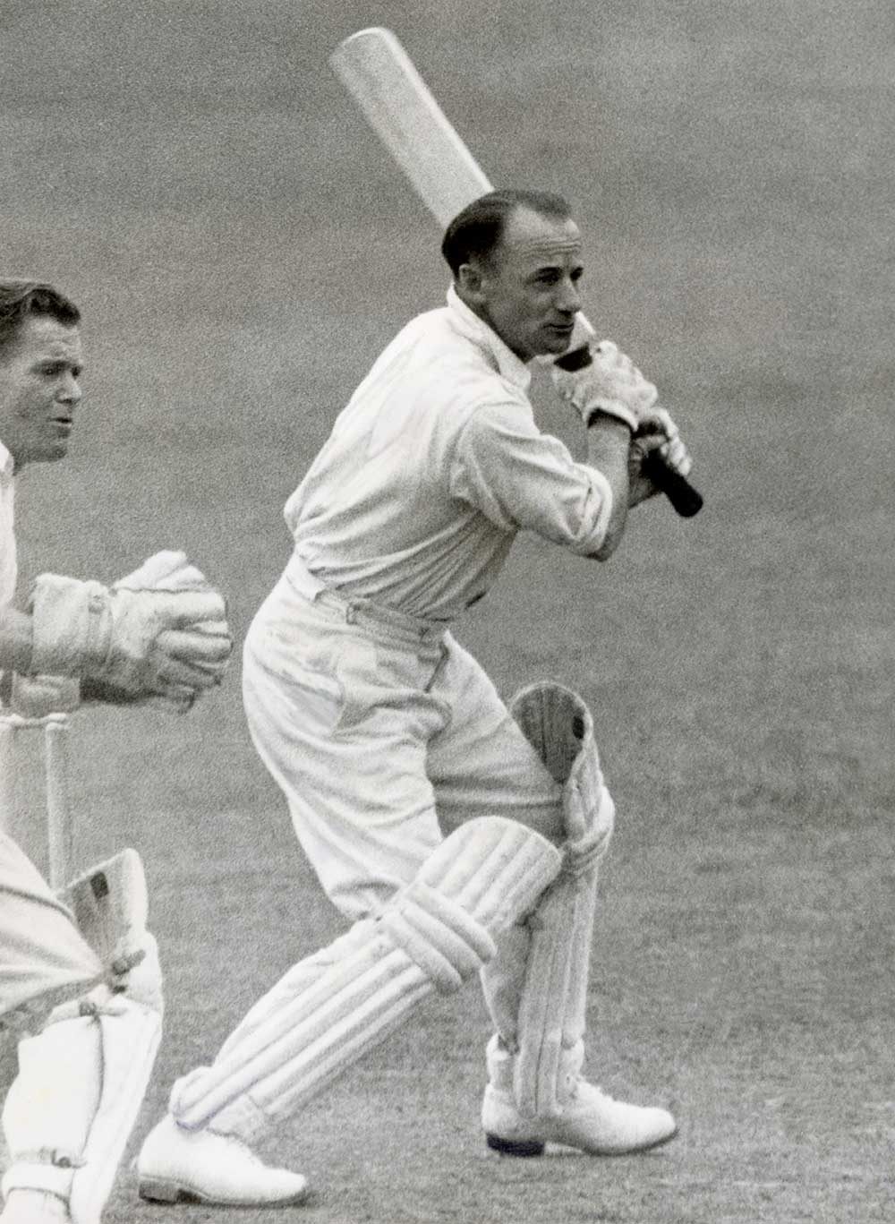 Sir Donald Bradman in action on the 1948 tour // Getty