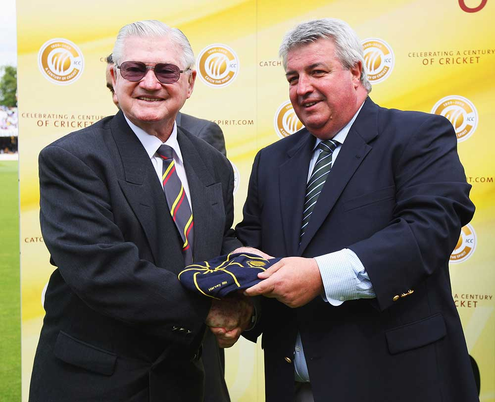 Neil Harvey was inducted into the ICC Hall of Fame at Lord's in 2009 // Getty