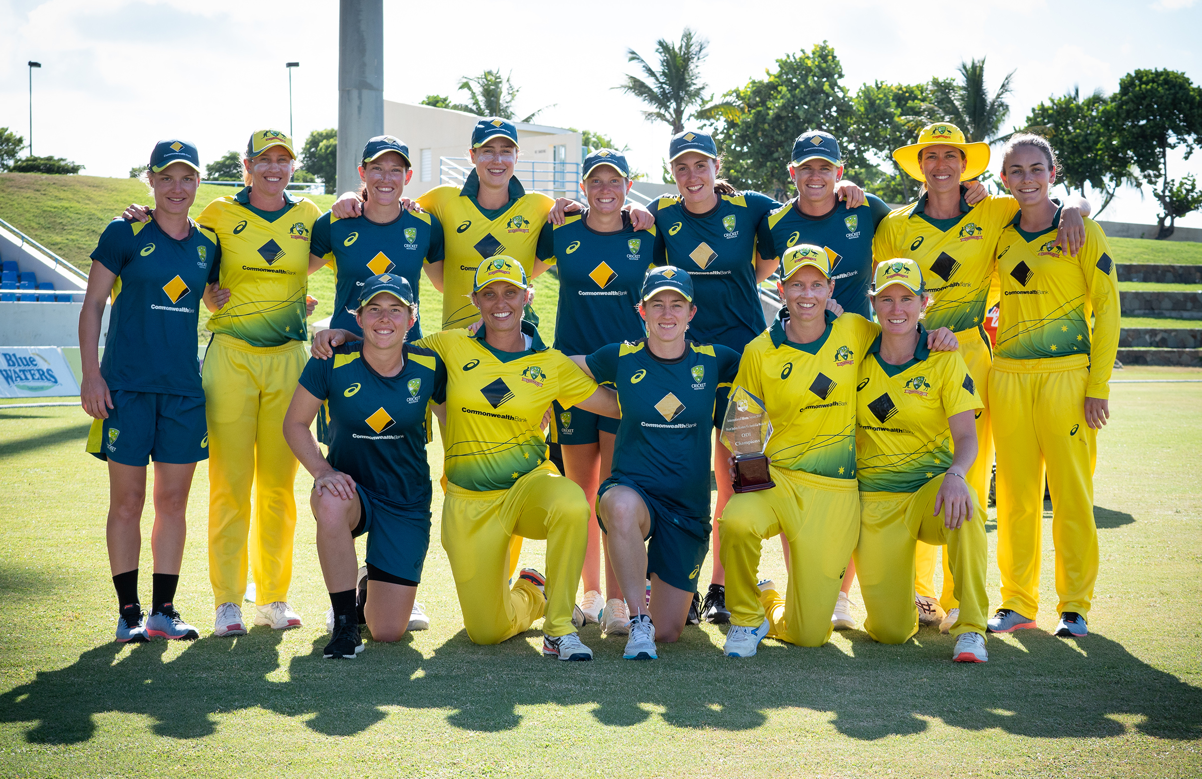 Australia celebrate a 3-0 series win over the West Indies // Getty