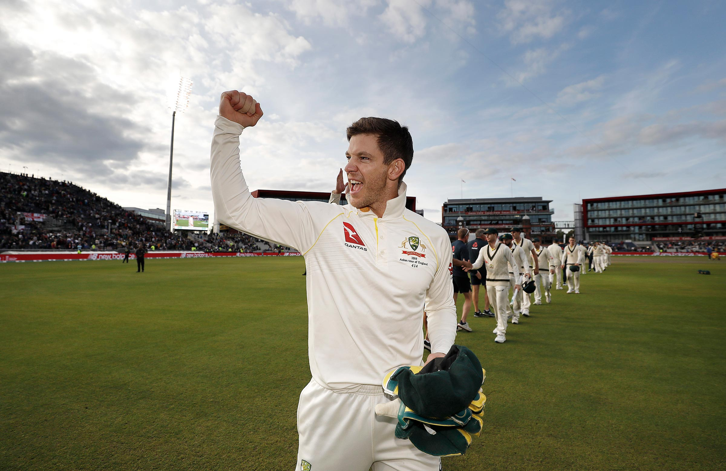 Paine celebrates in Manchester // Getty