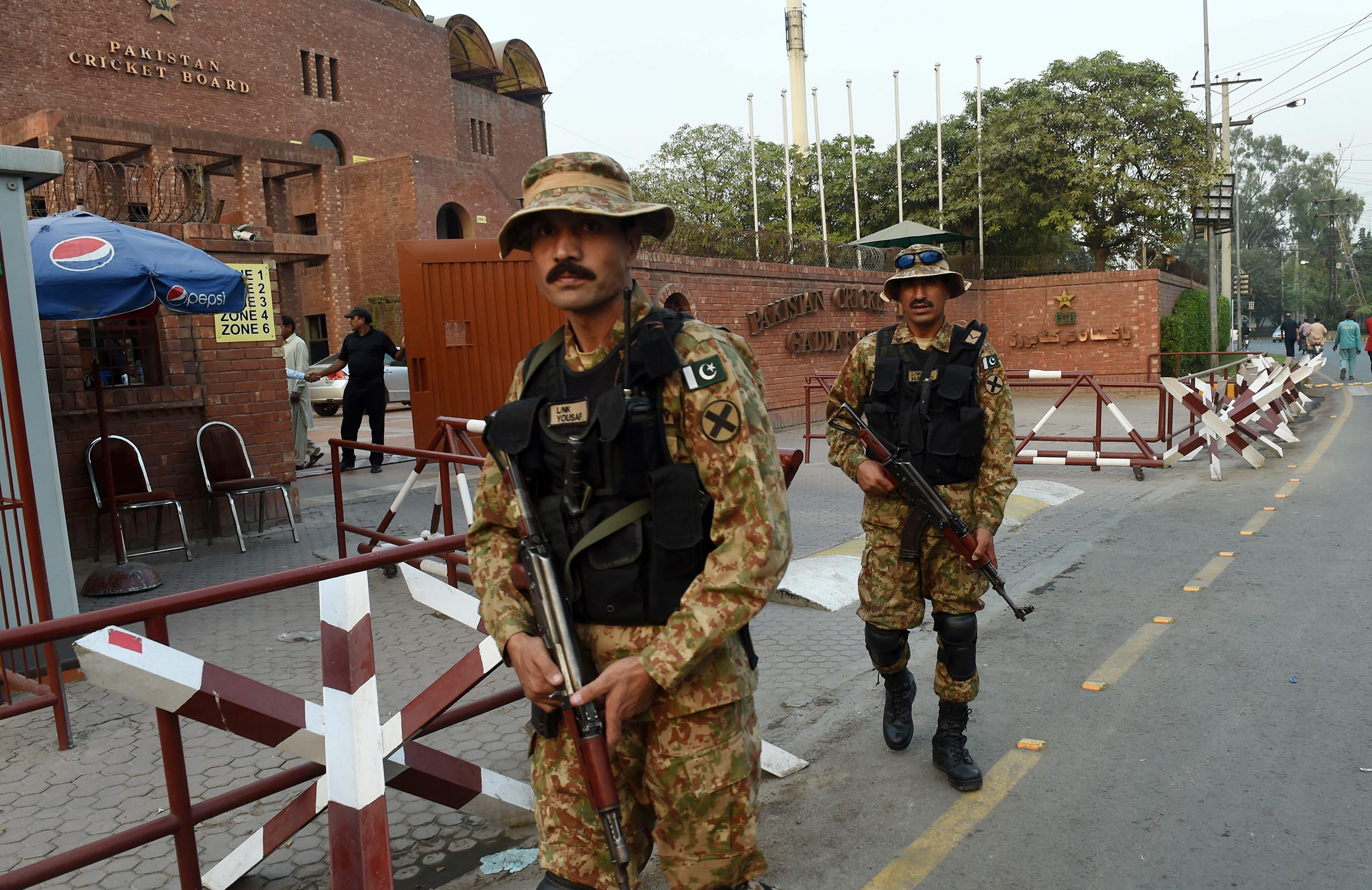 Recent internationals in Pakistan have been played under high security // Getty