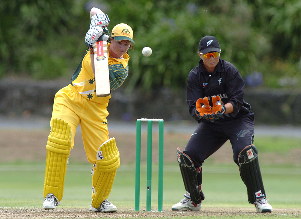 Karen Rolton bats her way to a century against New Zealand in 2004 // Getty