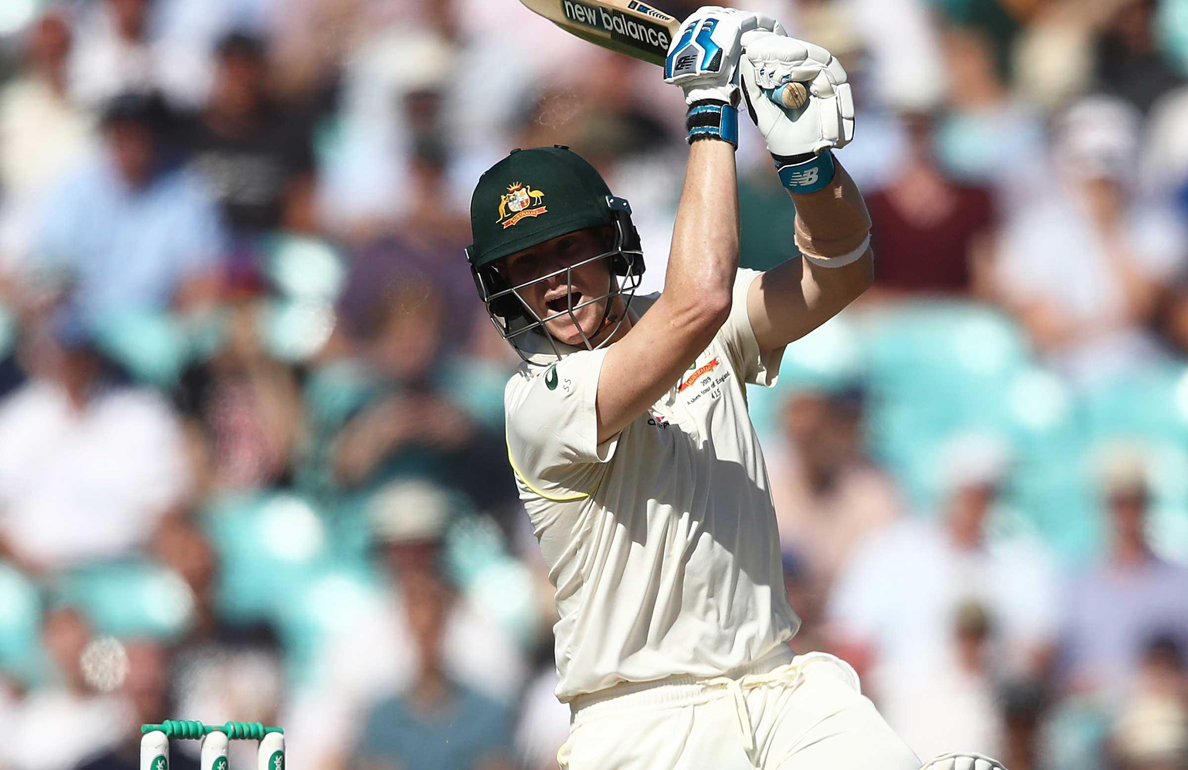 Smith was Australia's batting saviour again on Friday // Getty