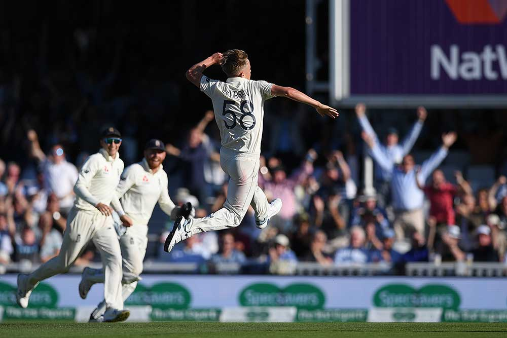 Sam Curran does his best Brett Lee impersonation // Getty