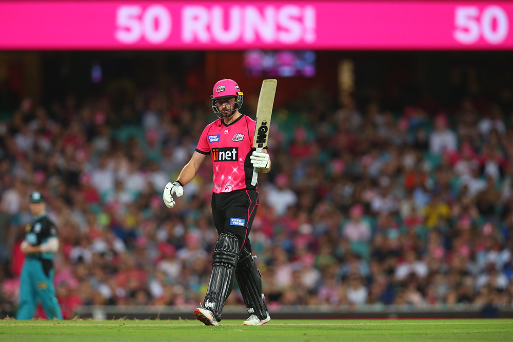Vince acknowledges a half century for the Sixers in BBL|08 // Getty