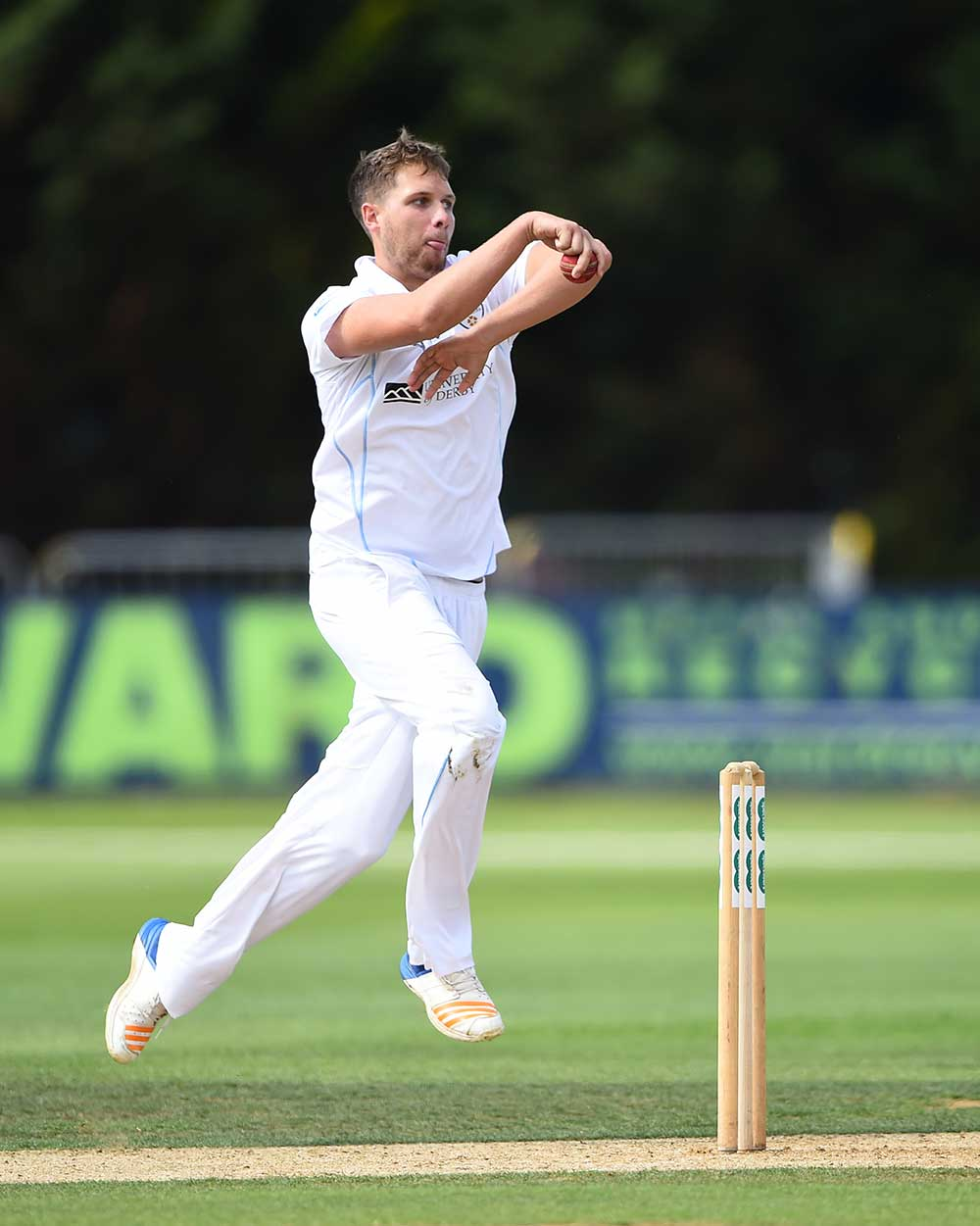 Derbyshire leg-spinner Matt Critchley // Getty