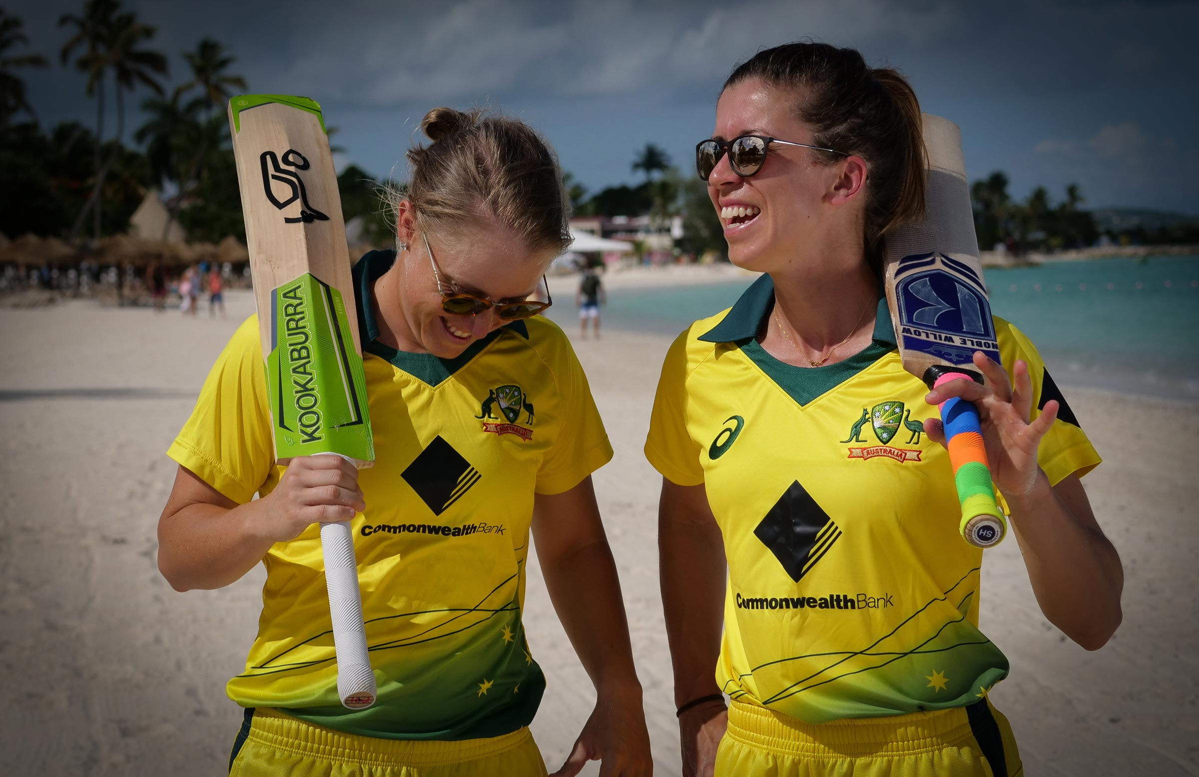 Alyssa Healy and Erin Burns during this month's tour of the West Indies // cricket.com.au