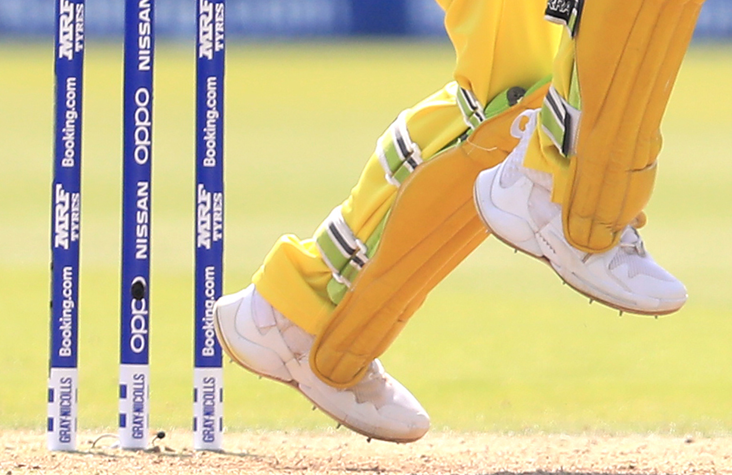 A close-up of Khawaja's shoes at the World Cup // AAP