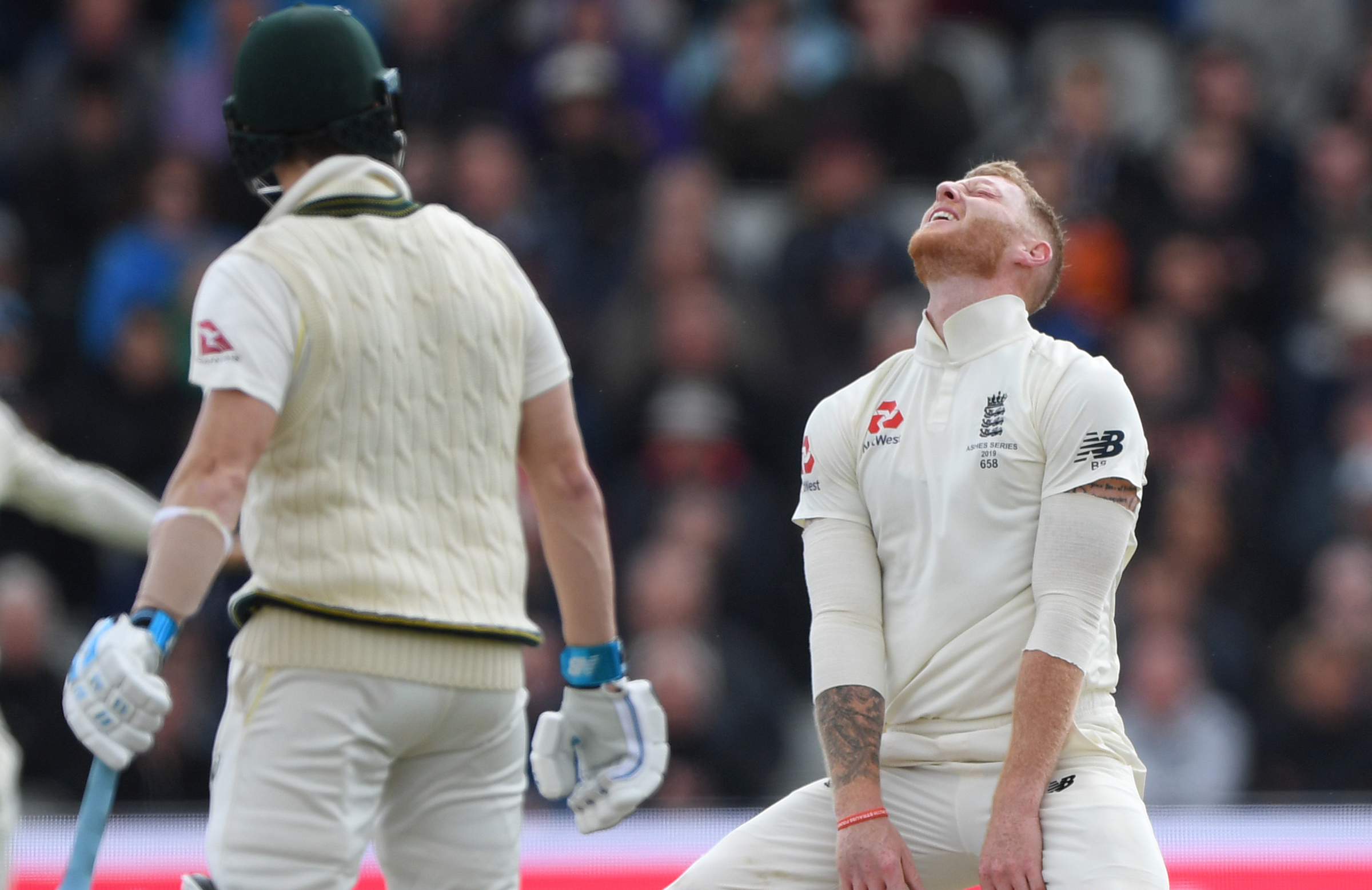 Stokes bemoans a close lbw shout // Getty