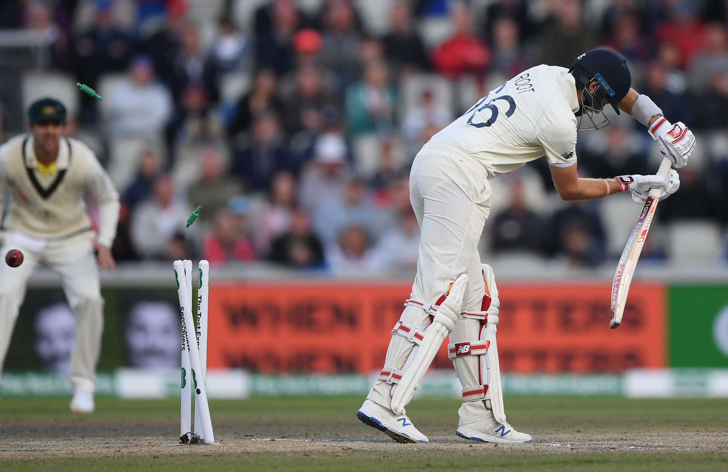 Root was bowled by a Cummins cracker // Getty