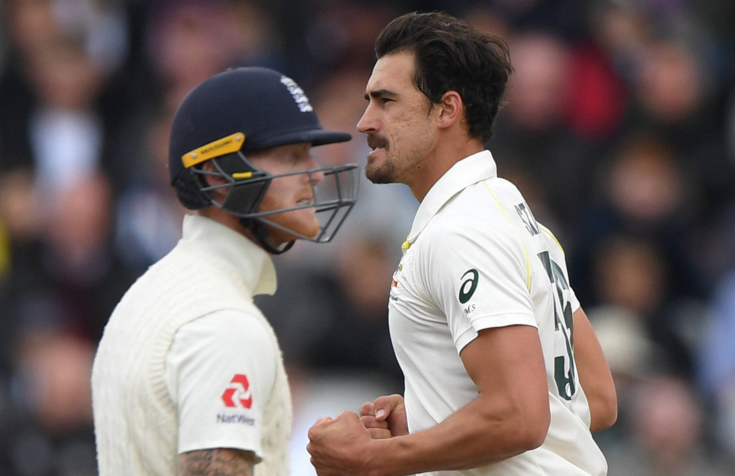 Starc got Stokes with a terrific delivery // Getty