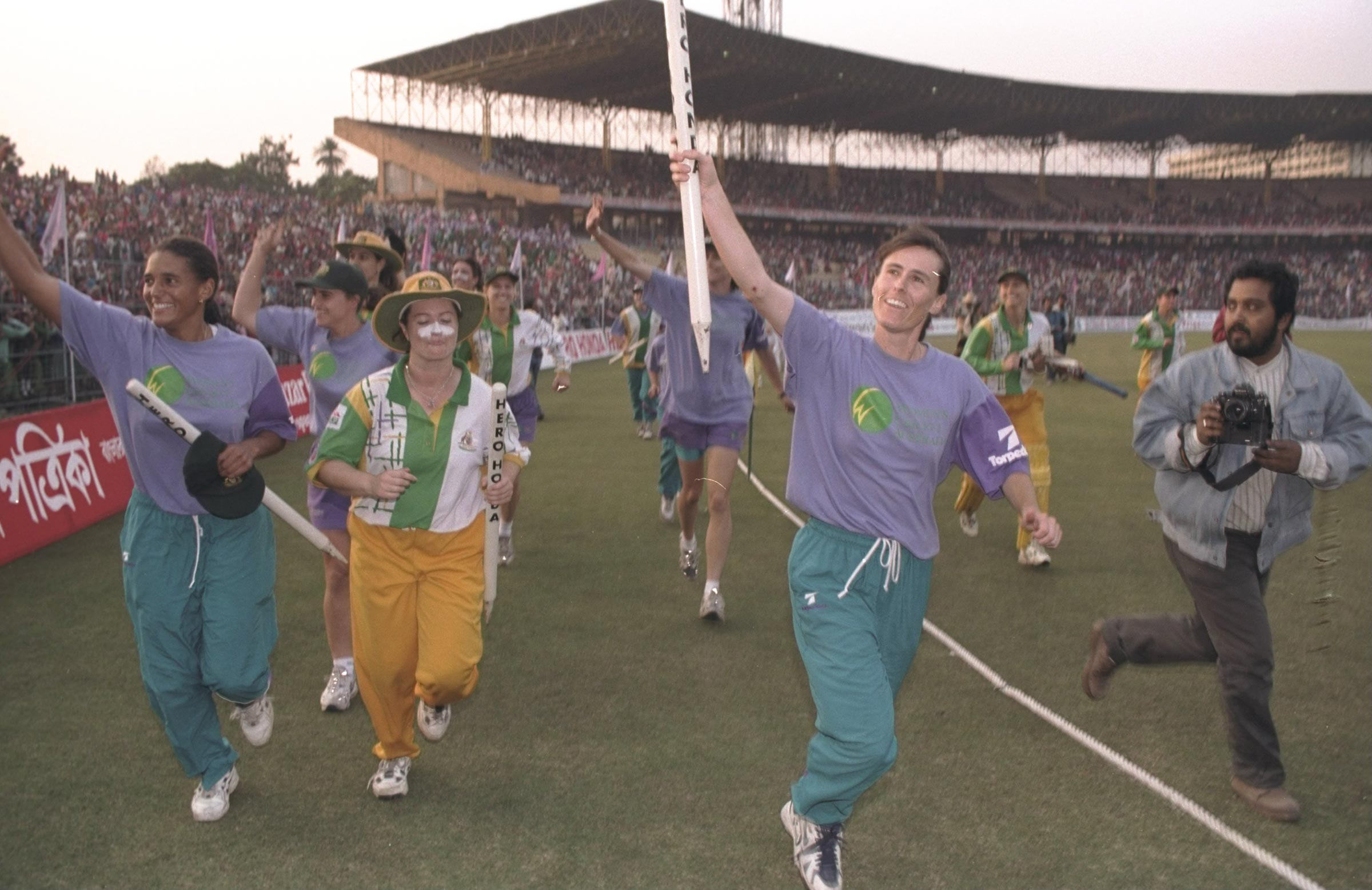 Clark and Australia celebrate their 1997 World Cup win // Getty
