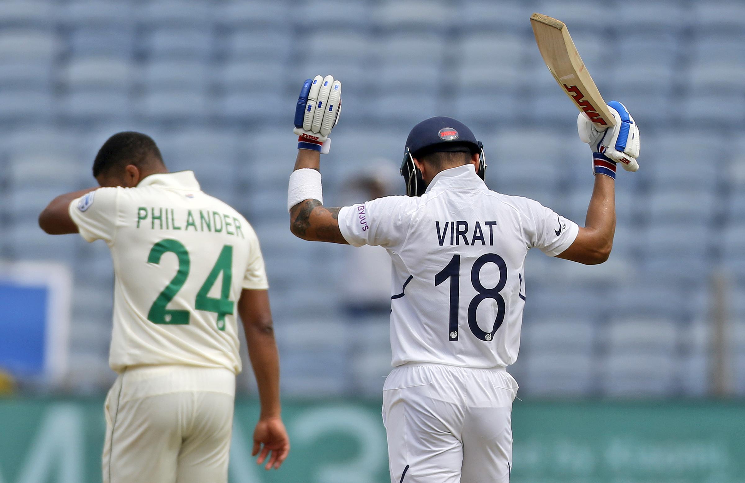 Kohli celebrates his century // AAP