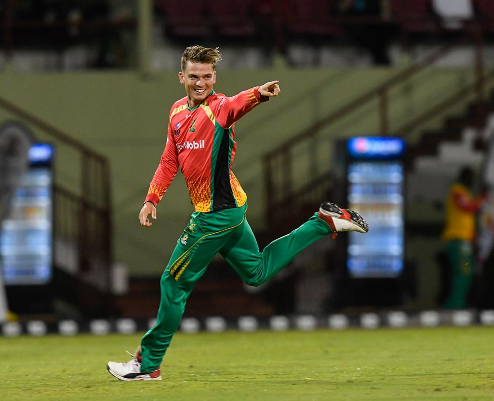 Chris Green has 13 wickets in this CPL season // Getty