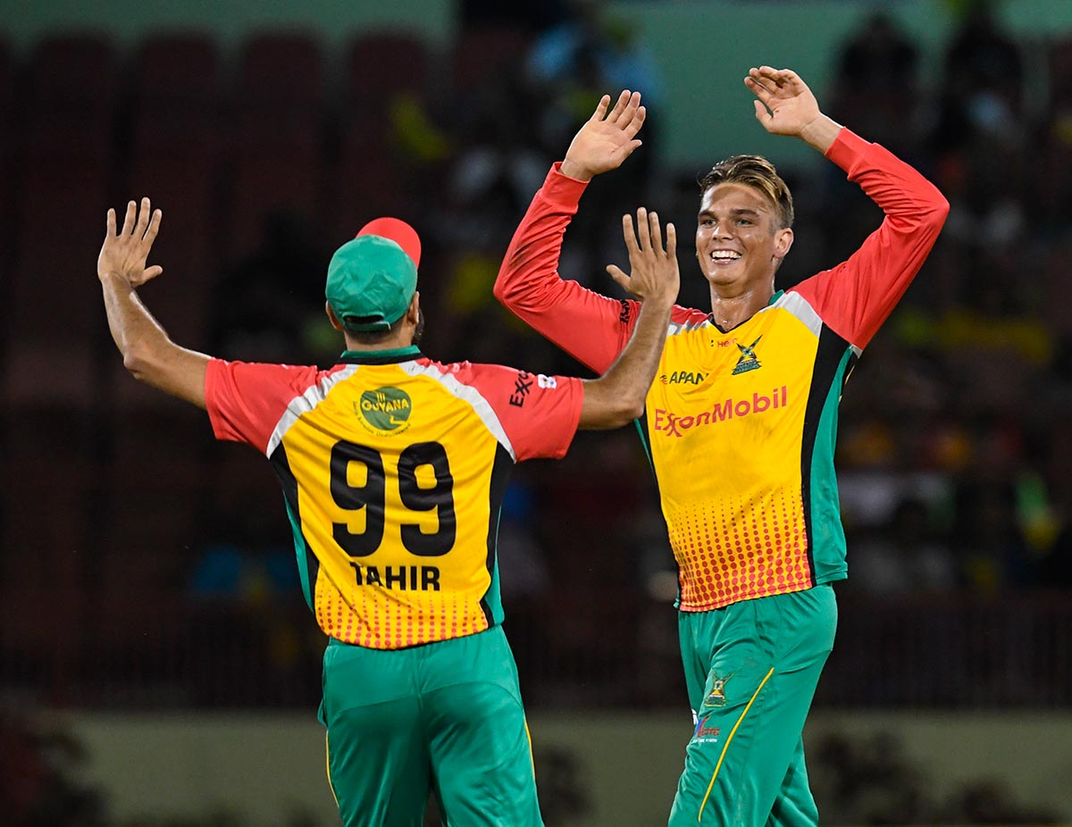 Imran Tahir and Chris Green form a potent duo // Getty