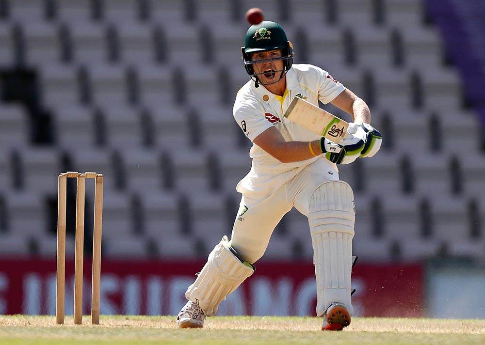 Pucovski batting for the 'Brad Haddin XII' // Getty