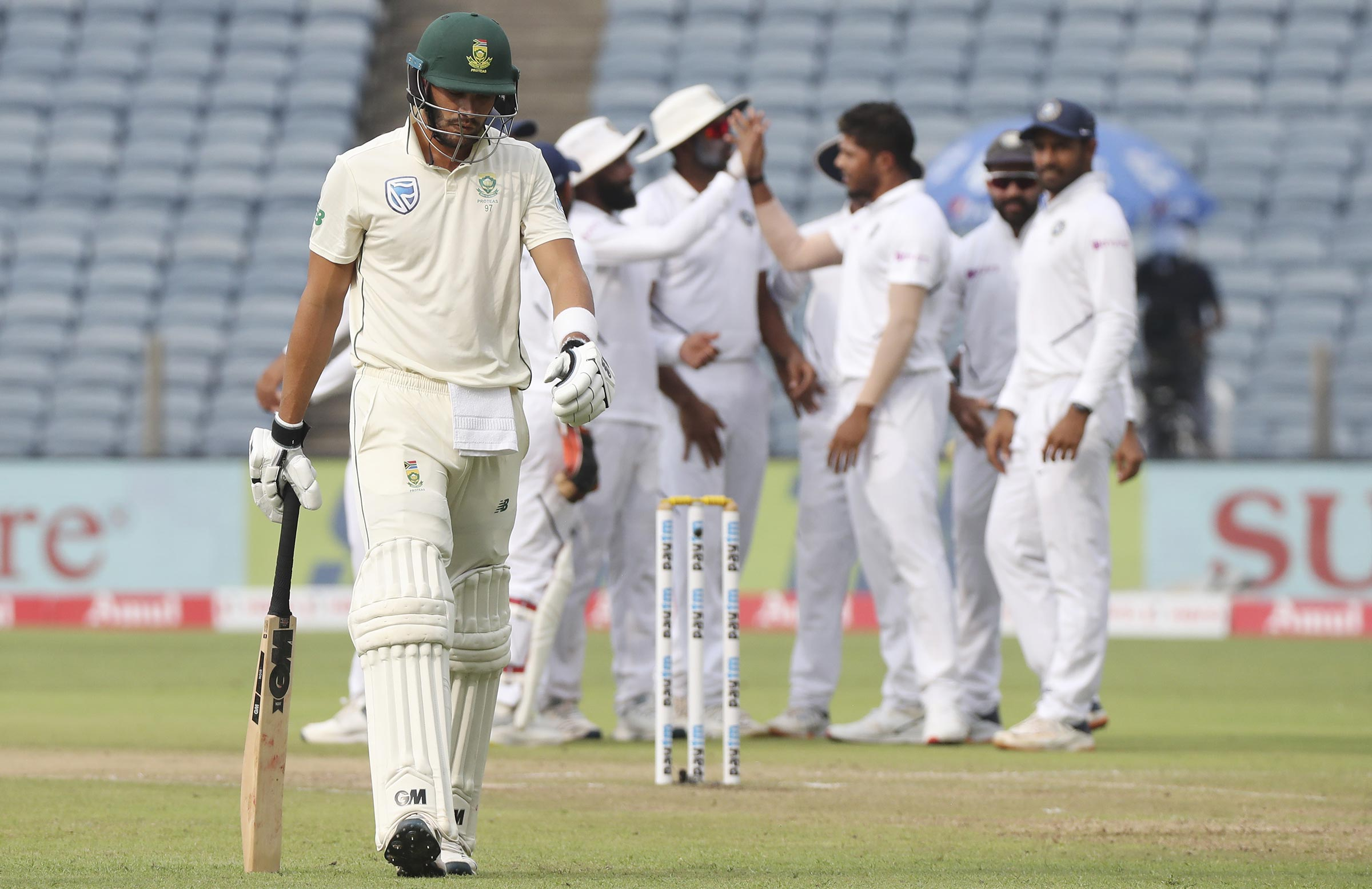 Markram got a duck in both innings of the second Test // AAP