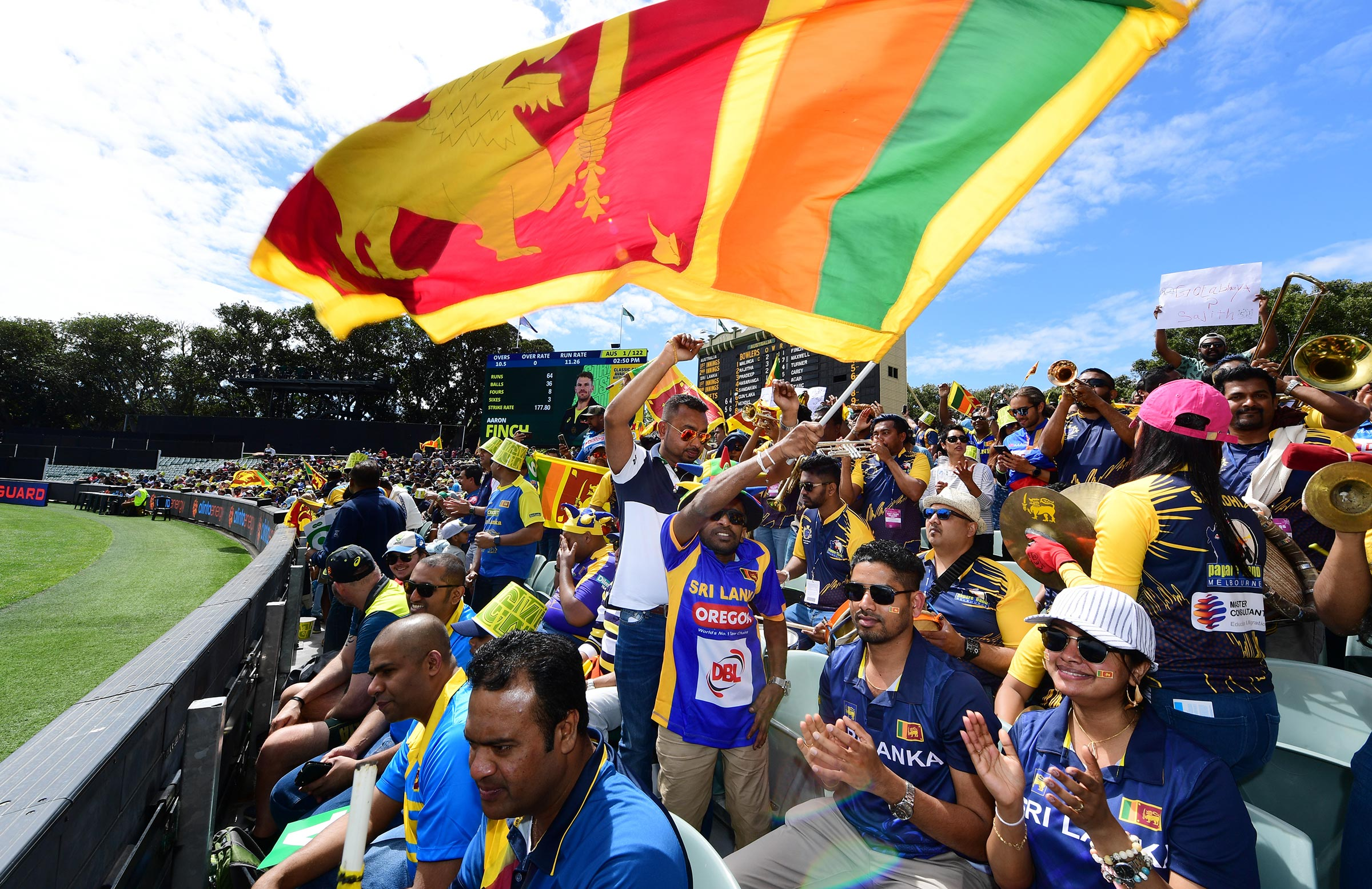 Sri Lanka's fans brought a carnival atmosphere to Adelaide Oval // Getty