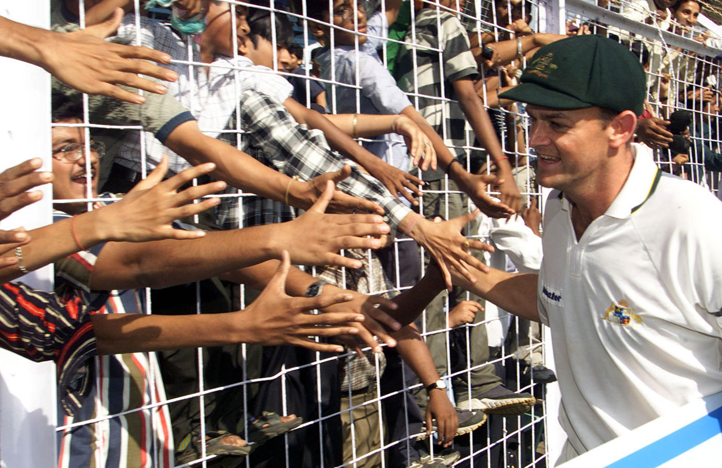 Soaking up the locals' adulation after his stunning hundred in Mumbai, 2001 // Getty