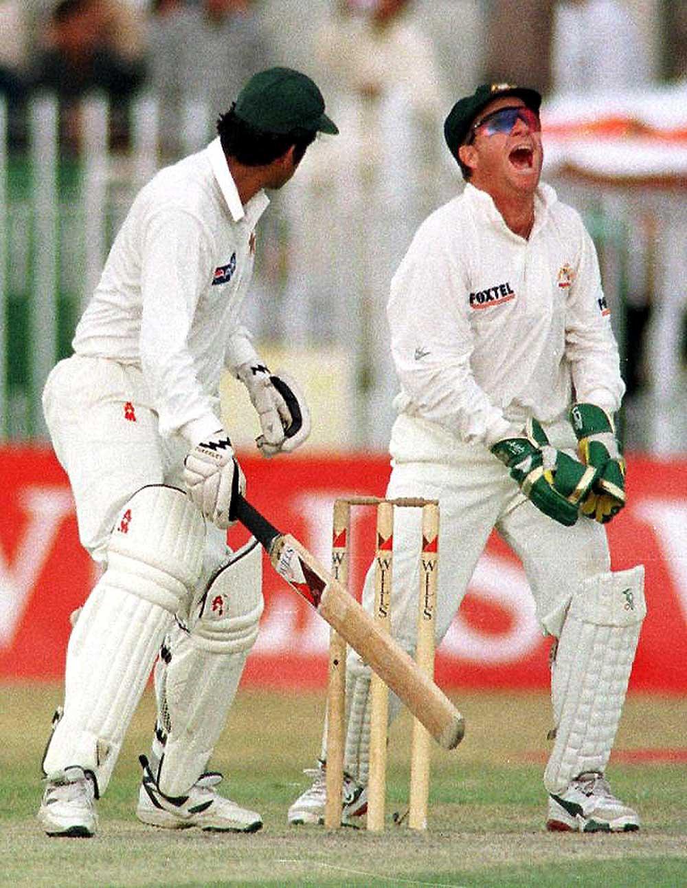 Ian Healy claims his 356th Test victim in Rawalpindi, 1998 // Getty