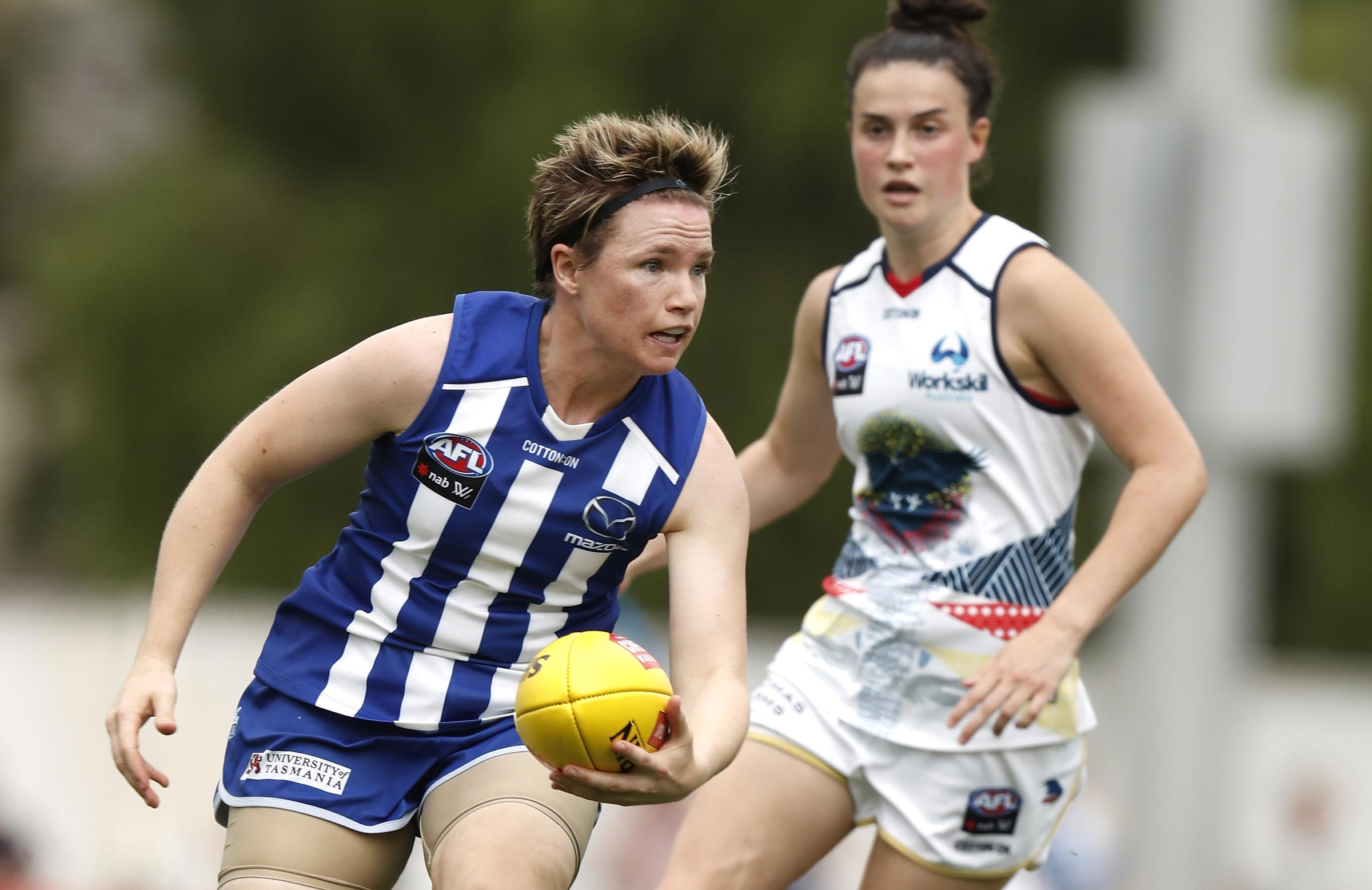 Duffin in action for North Melbourne // Getty