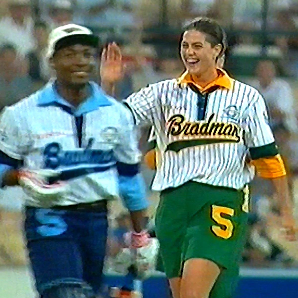 Goss celebrates Lara's wicket