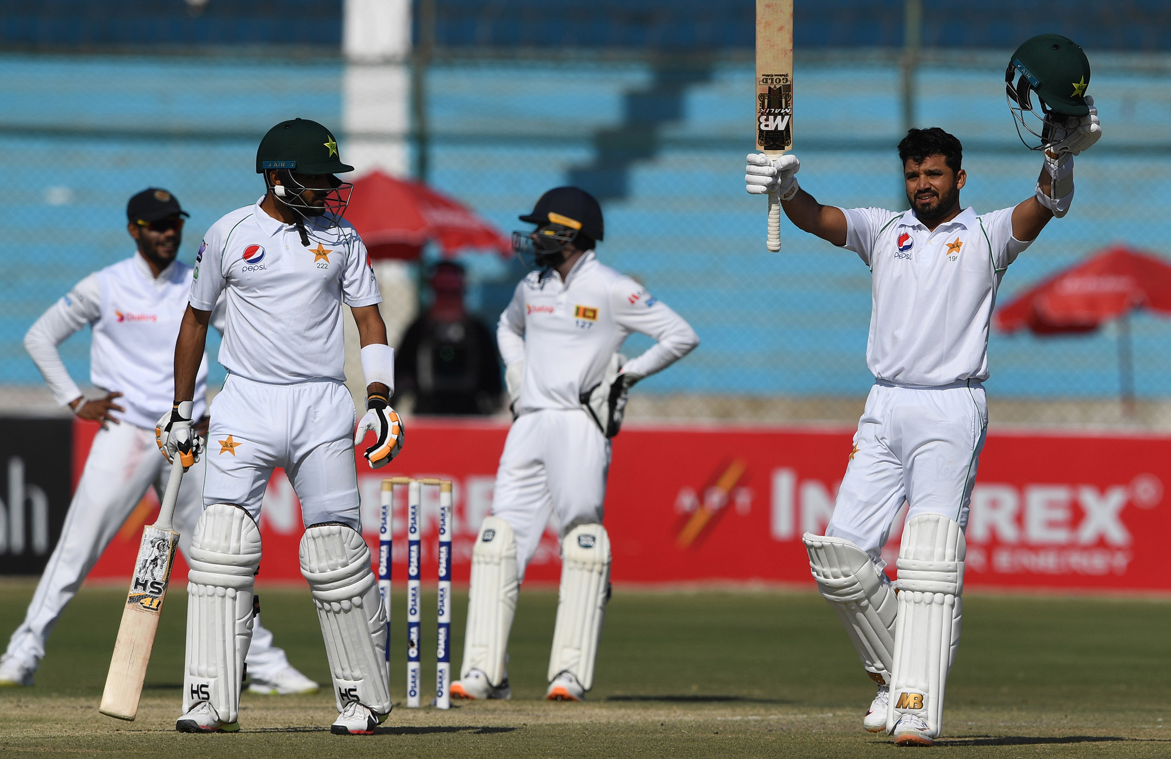 Azhar Ali was one of four Pakistan batsmen to ton up in the second innings // AAP