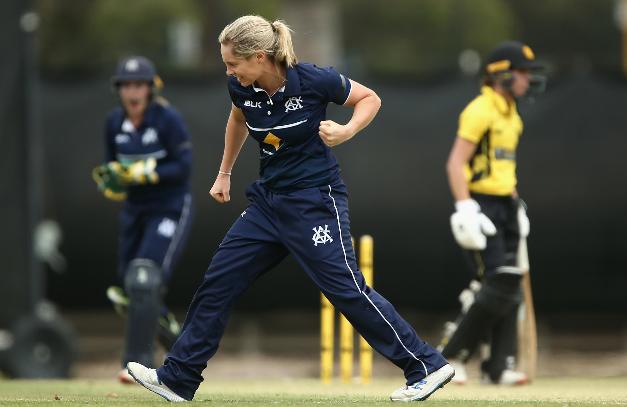 Sophie Molineux celebrates a wicket // AAP