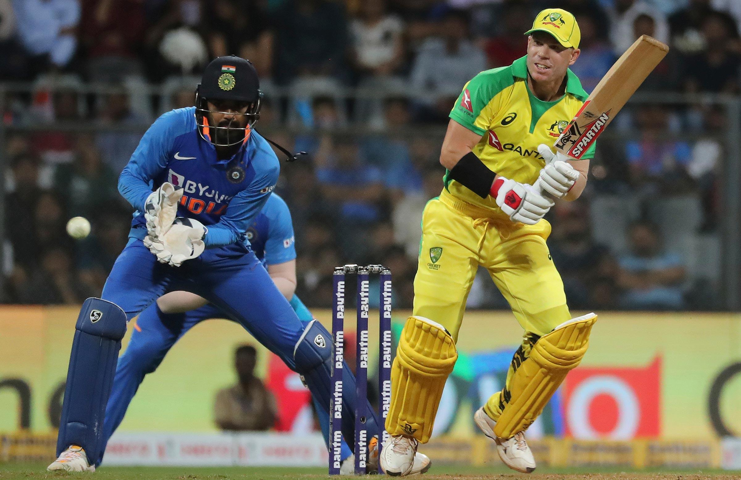 Warner was in top form in Mumbai // AAP