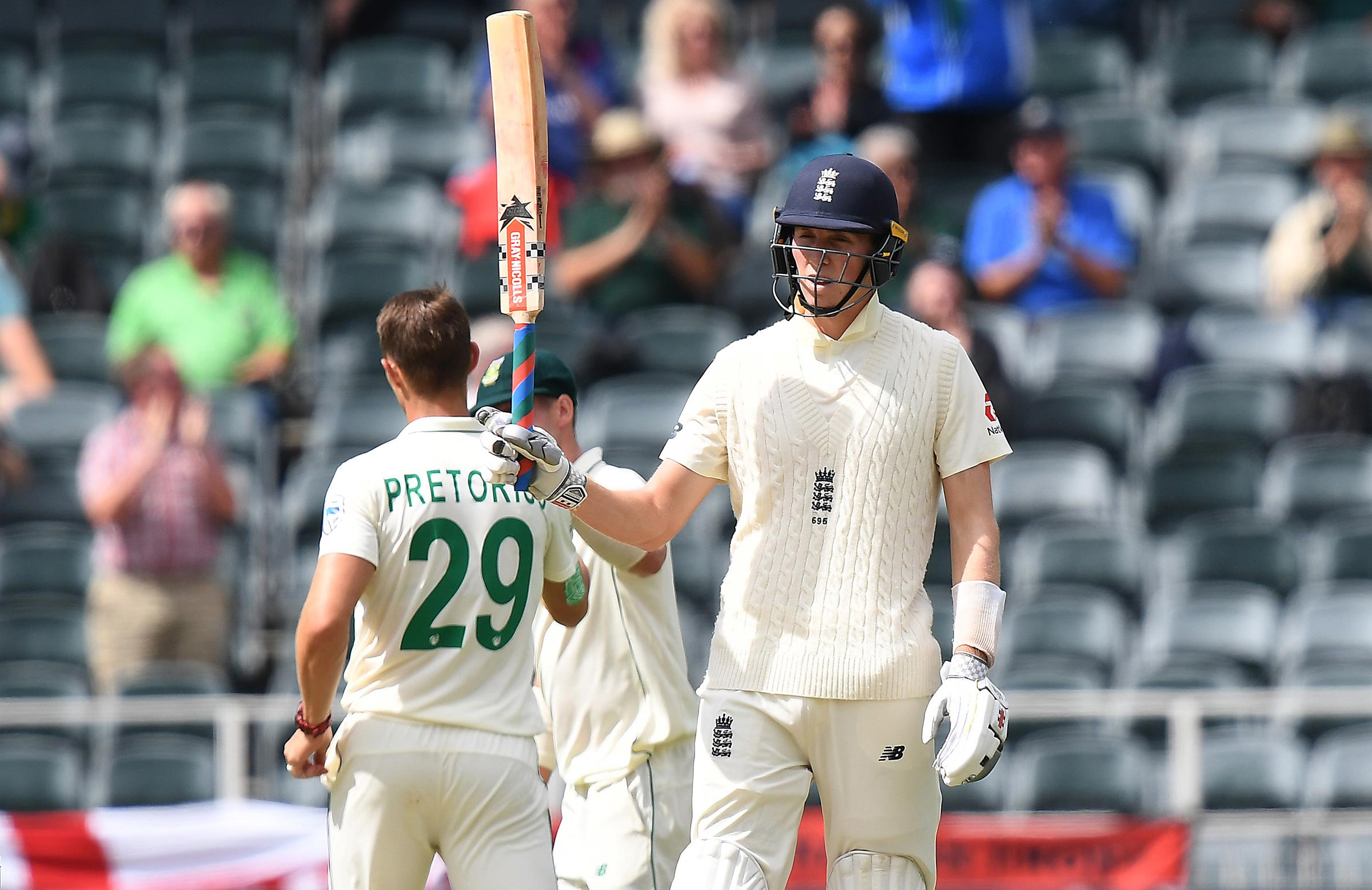 Crawley celebrates his fifty in Johannesburg // Getty