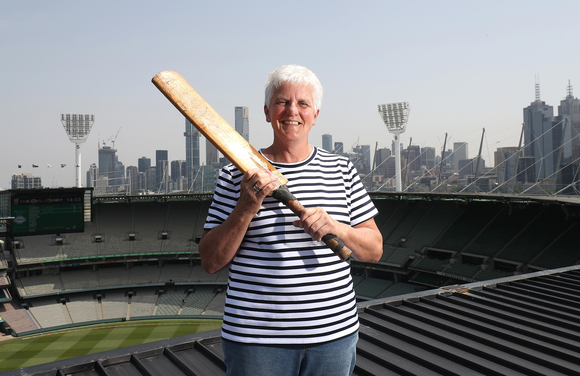 Tredrea on the roof at the MCG // Getty