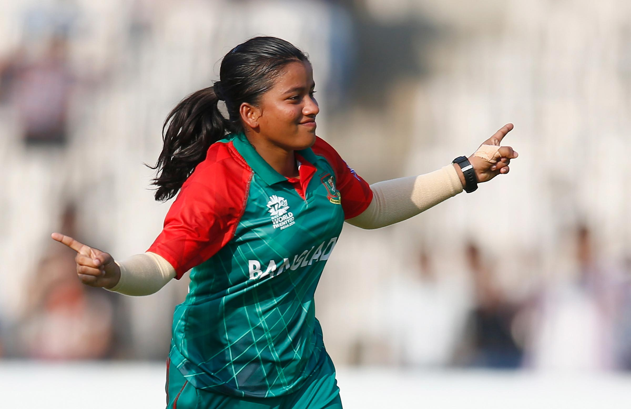 Nahida Akter starred at the T20 World Cup qualifiers // Getty