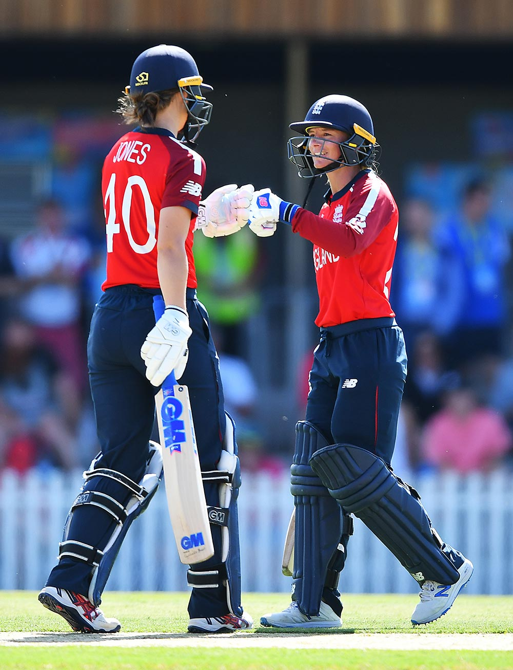 Amy Jones and Dani Wyatt opened with a 41-run stand // ICC/Getty
