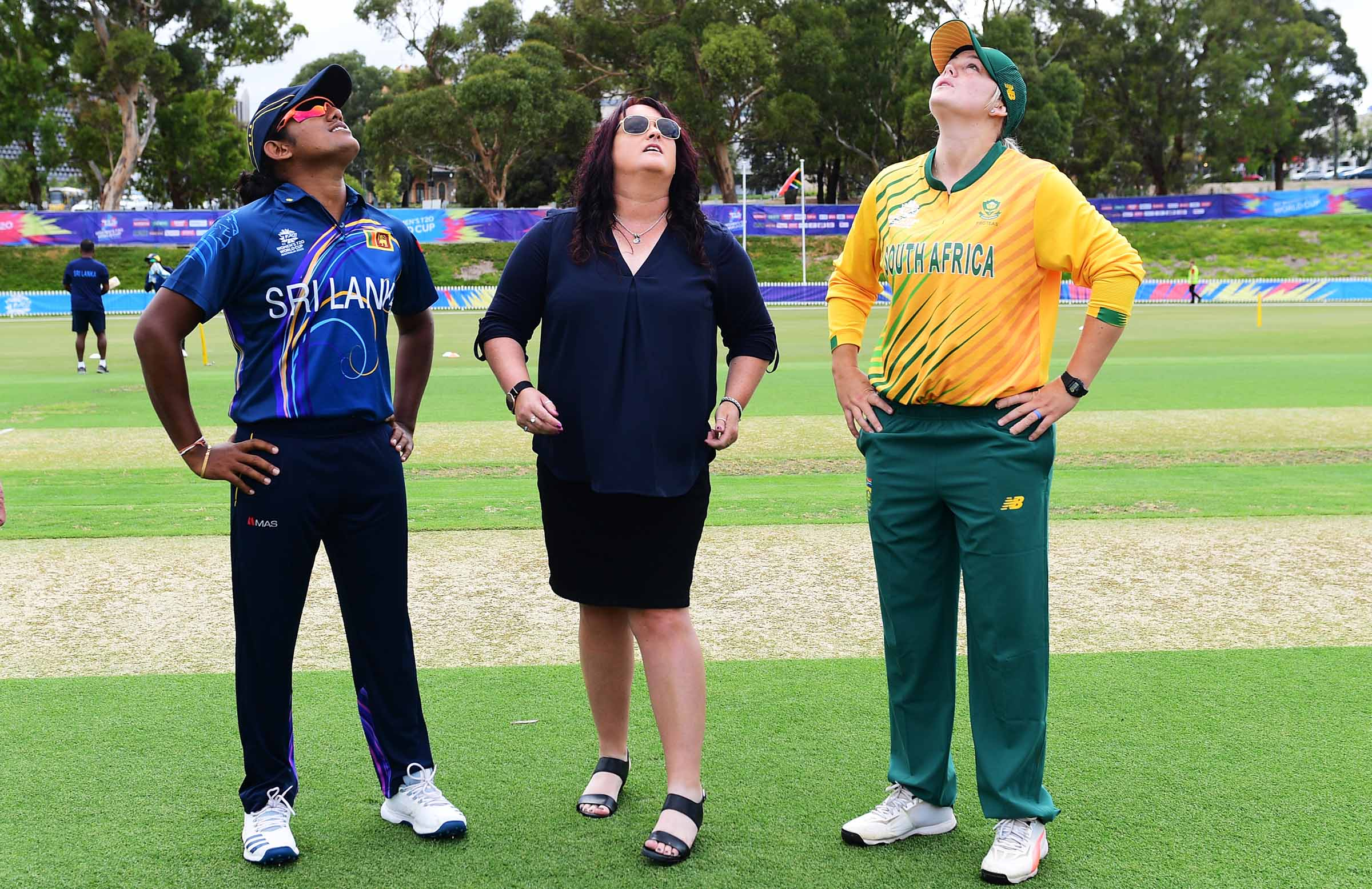 Rolton does the honours at today's toss at Karen Rolton Oval // Getty