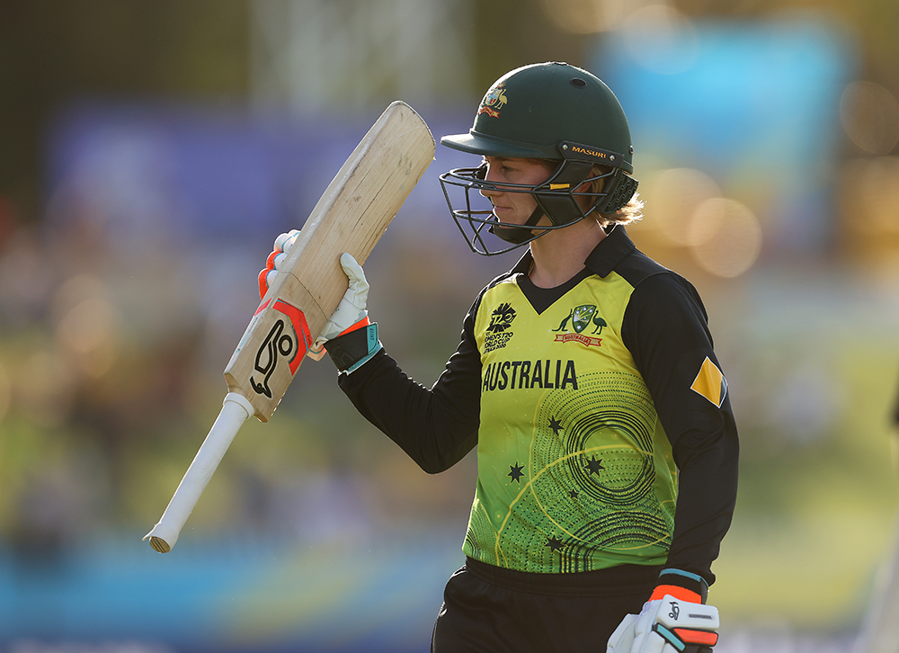 Rachael Haynes leaves the WACA Ground after a successful knock against Sri Lanka // Getty